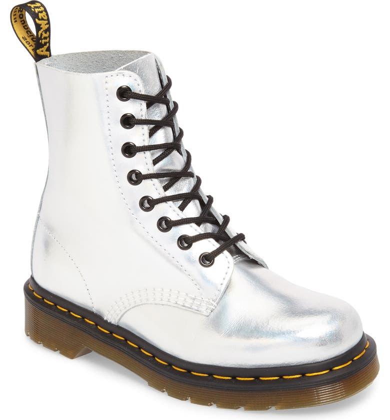 Dr. Martens Pascal Metallic Combat Boot (Women)  d0570b8c8d0