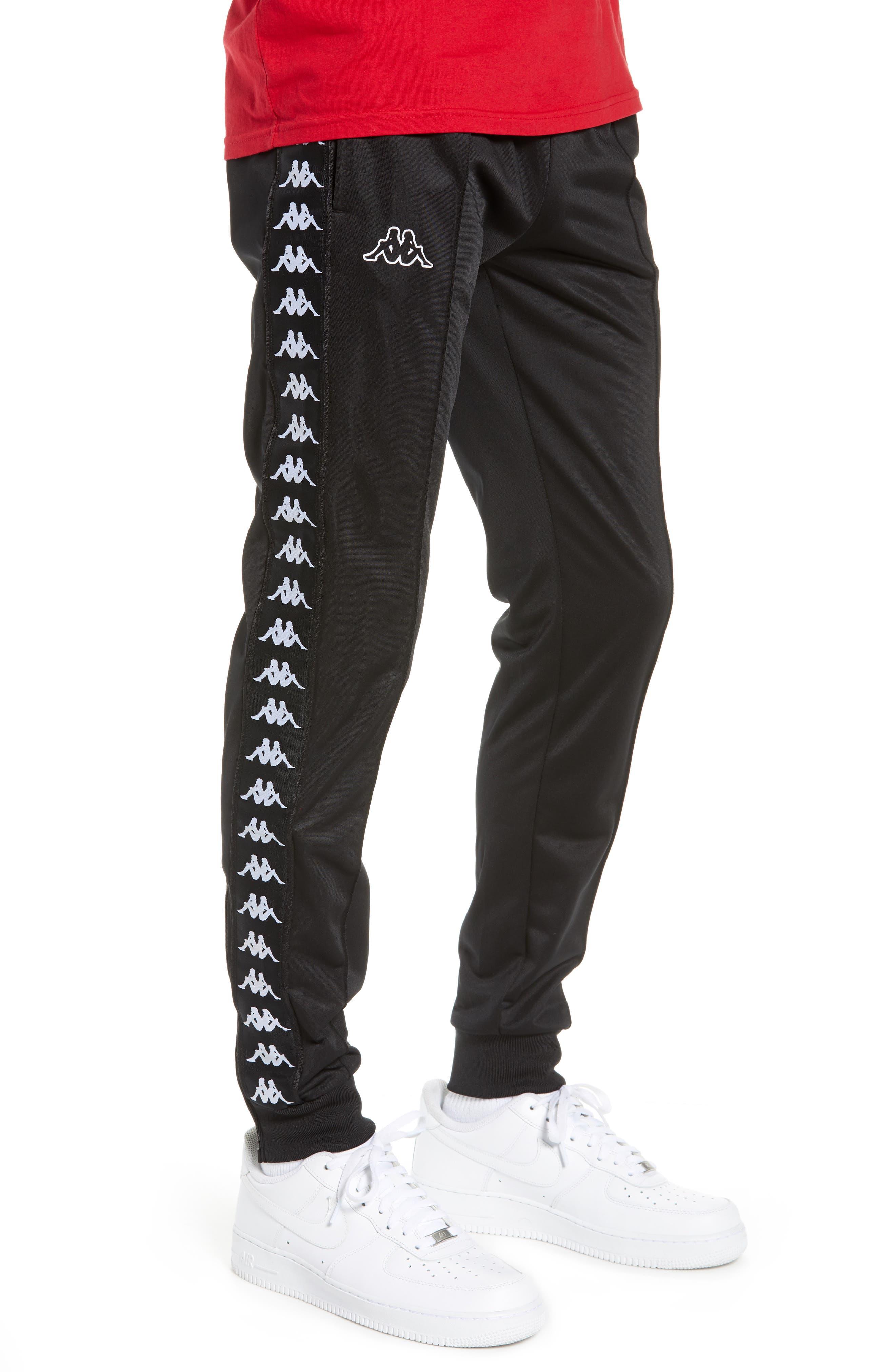 Active Banded Track Pants,                             Alternate thumbnail 3, color,                             BLACK/ BLACK