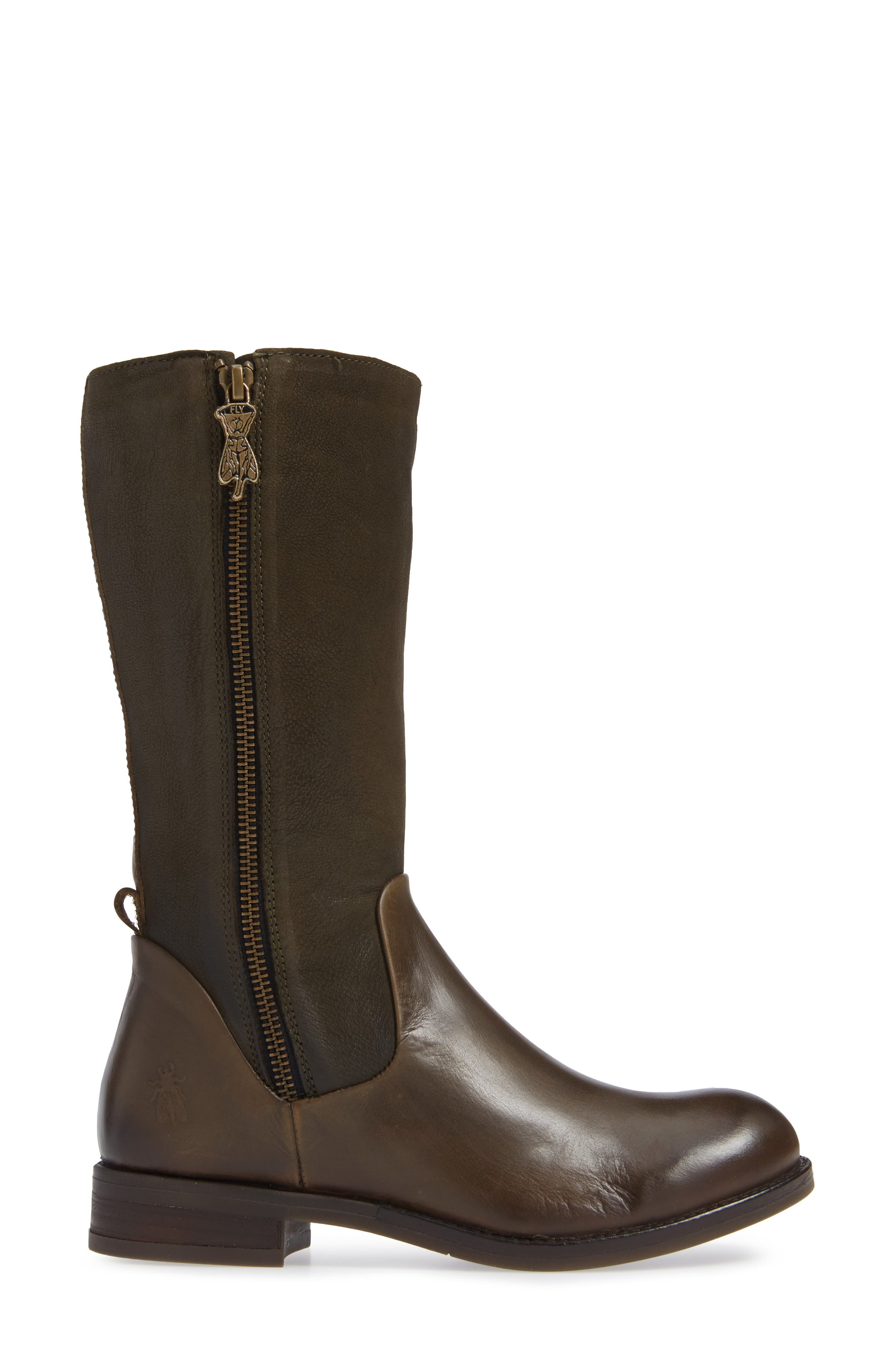 Aedi Boot,                             Alternate thumbnail 3, color,                             OLIVE/ SEAWEED LEATHER