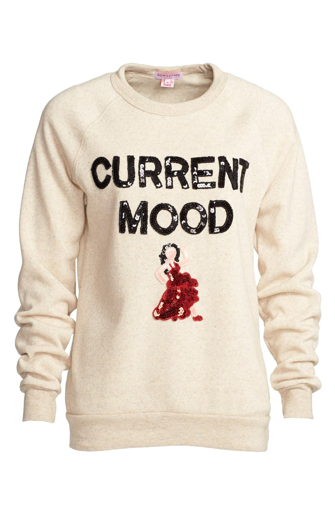 'Current Mood' Sequin Sweatshirt, Main, color, 020