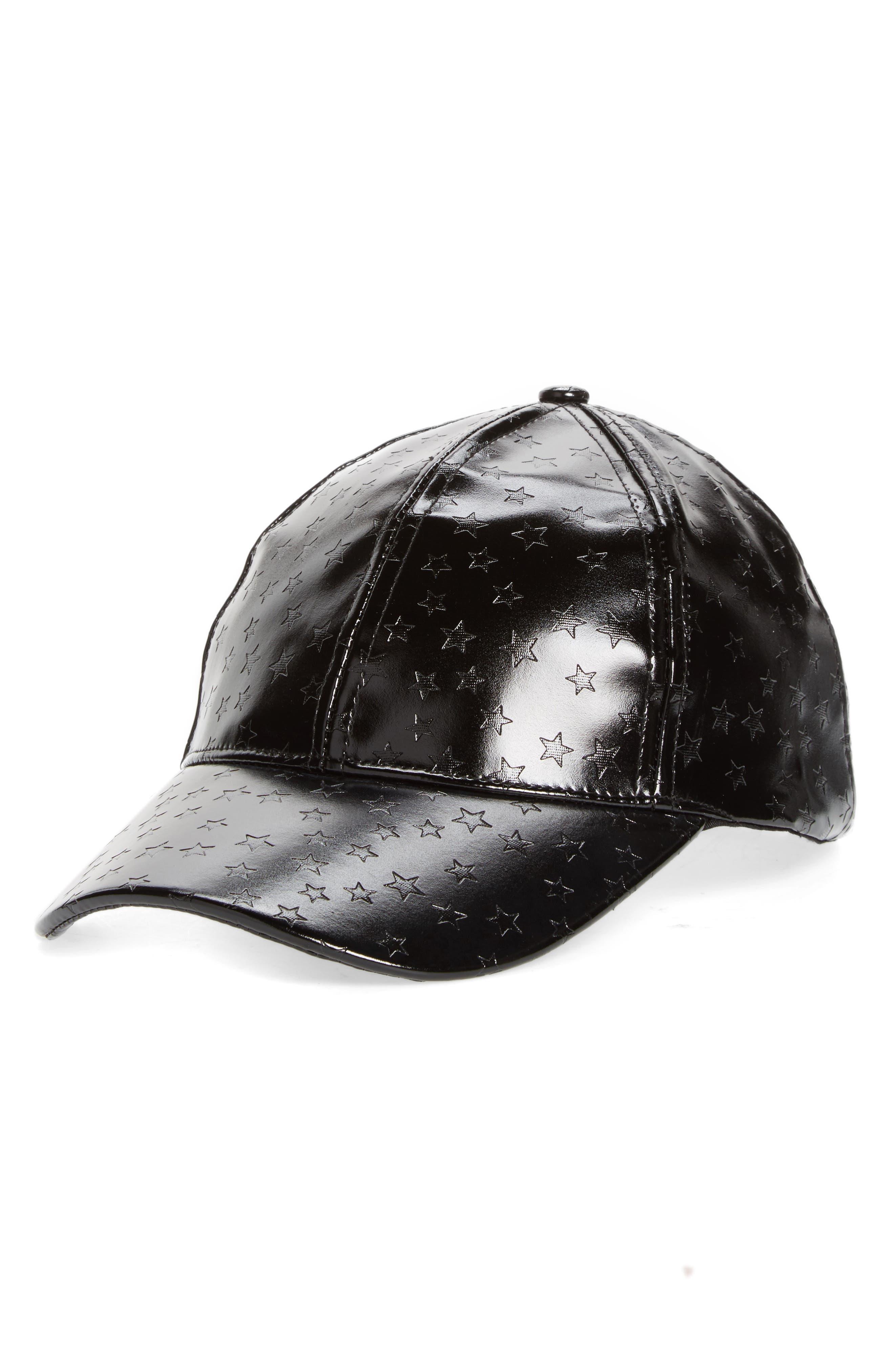 Star Embossed Baseball Cap,                         Main,                         color, 001