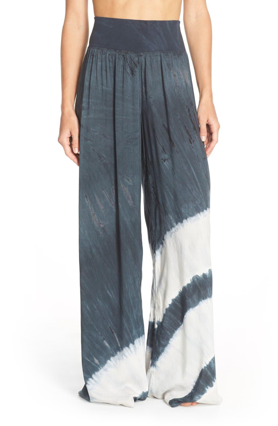 Tie Dye Wide Leg Pants,                             Main thumbnail 1, color,                             001