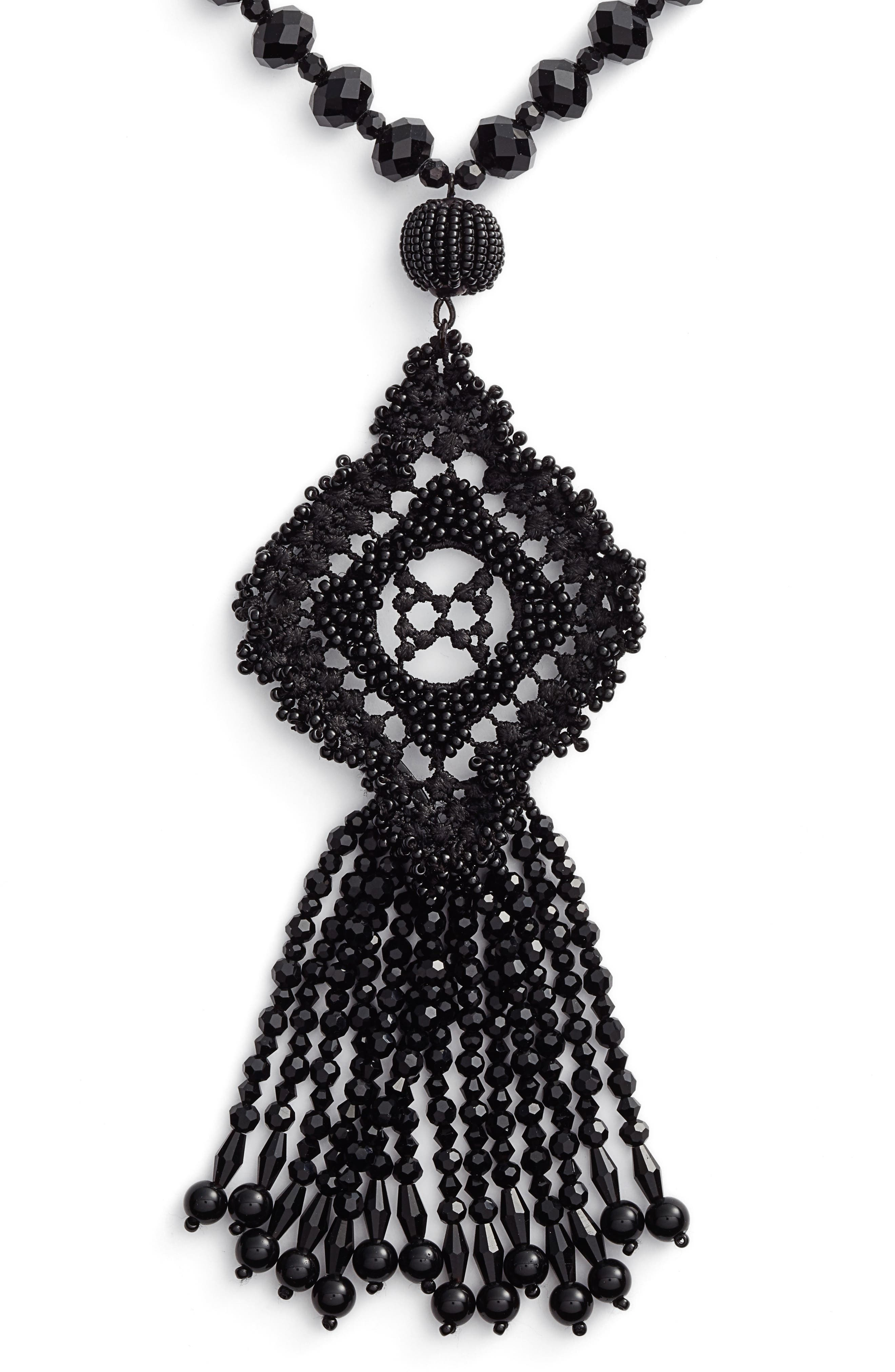 lace it up pendant necklace,                             Alternate thumbnail 2, color,                             001