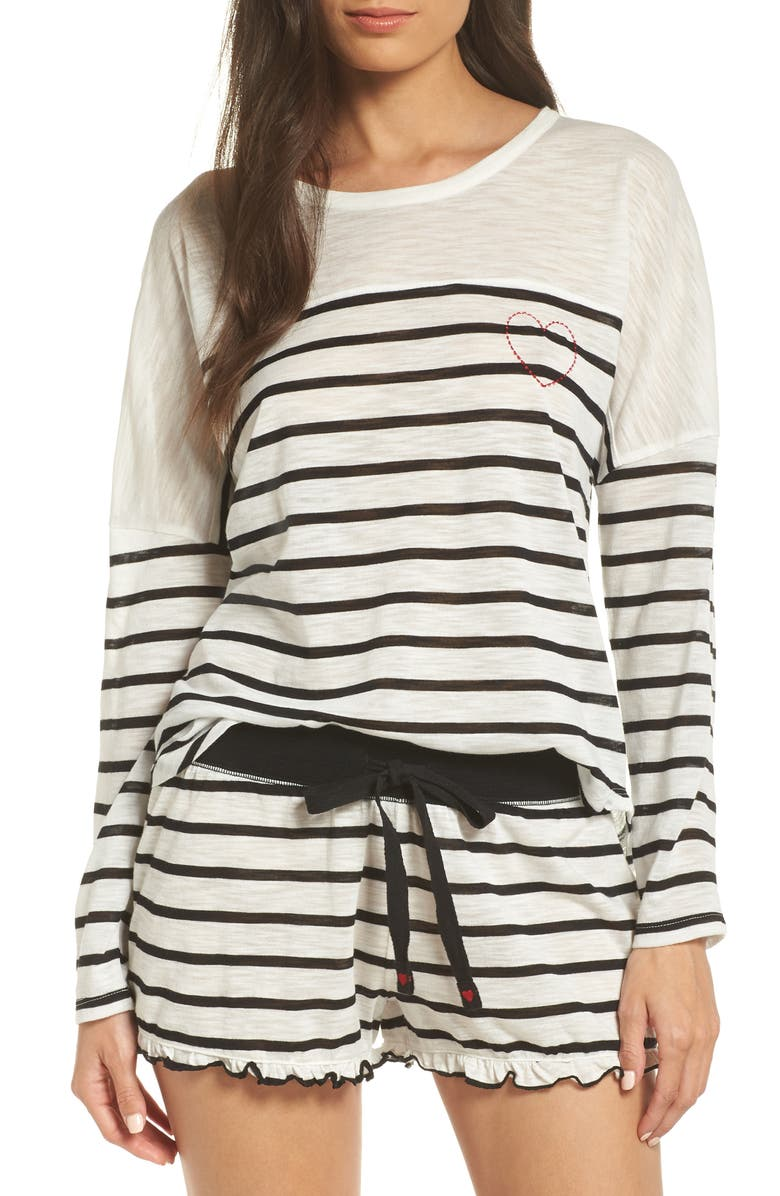 Pj Salvage TRUE LOVE STRIPE LOUNGE TOP
