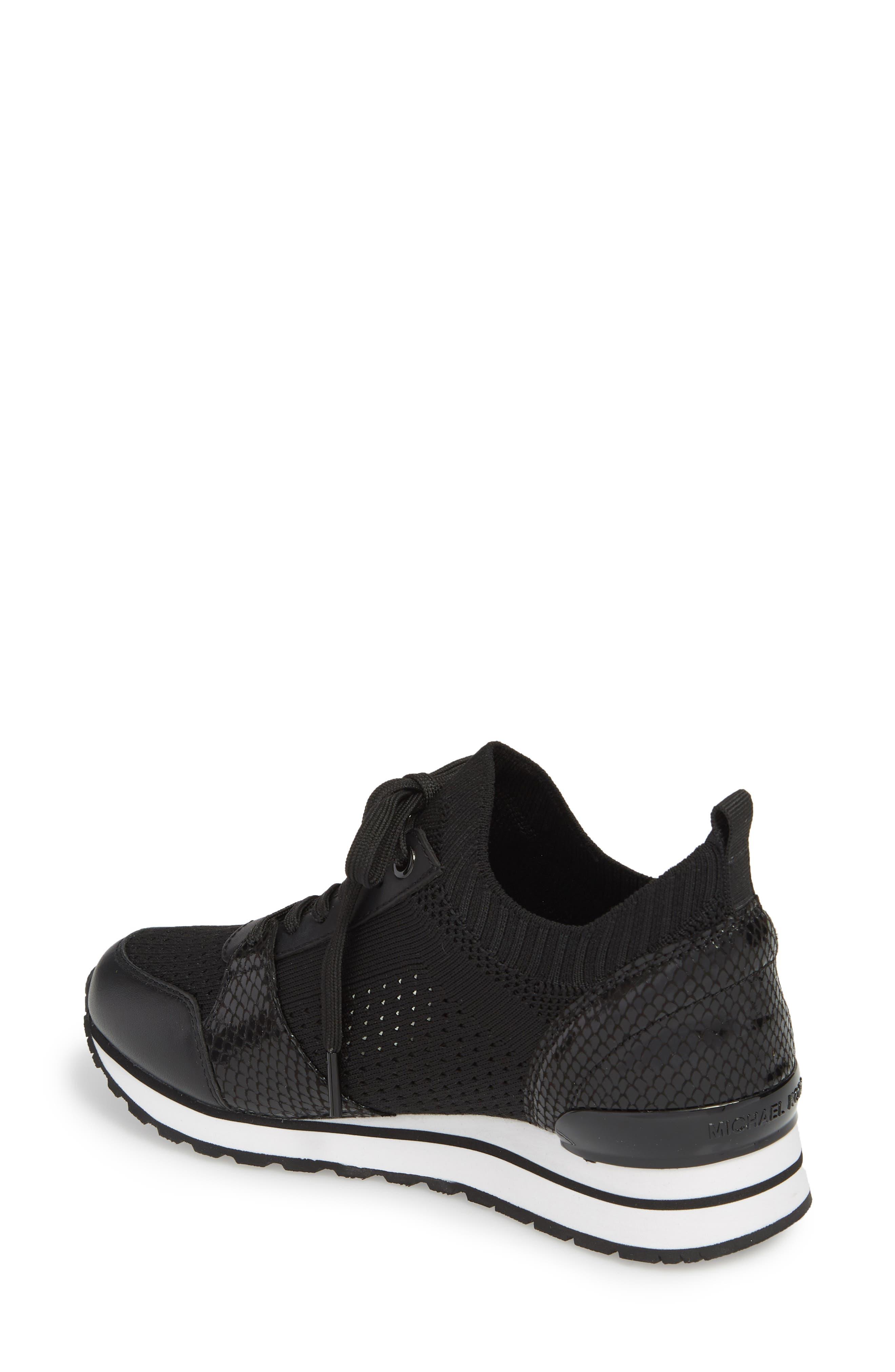 Billie Perforated Sneaker,                             Alternate thumbnail 2, color,                             002