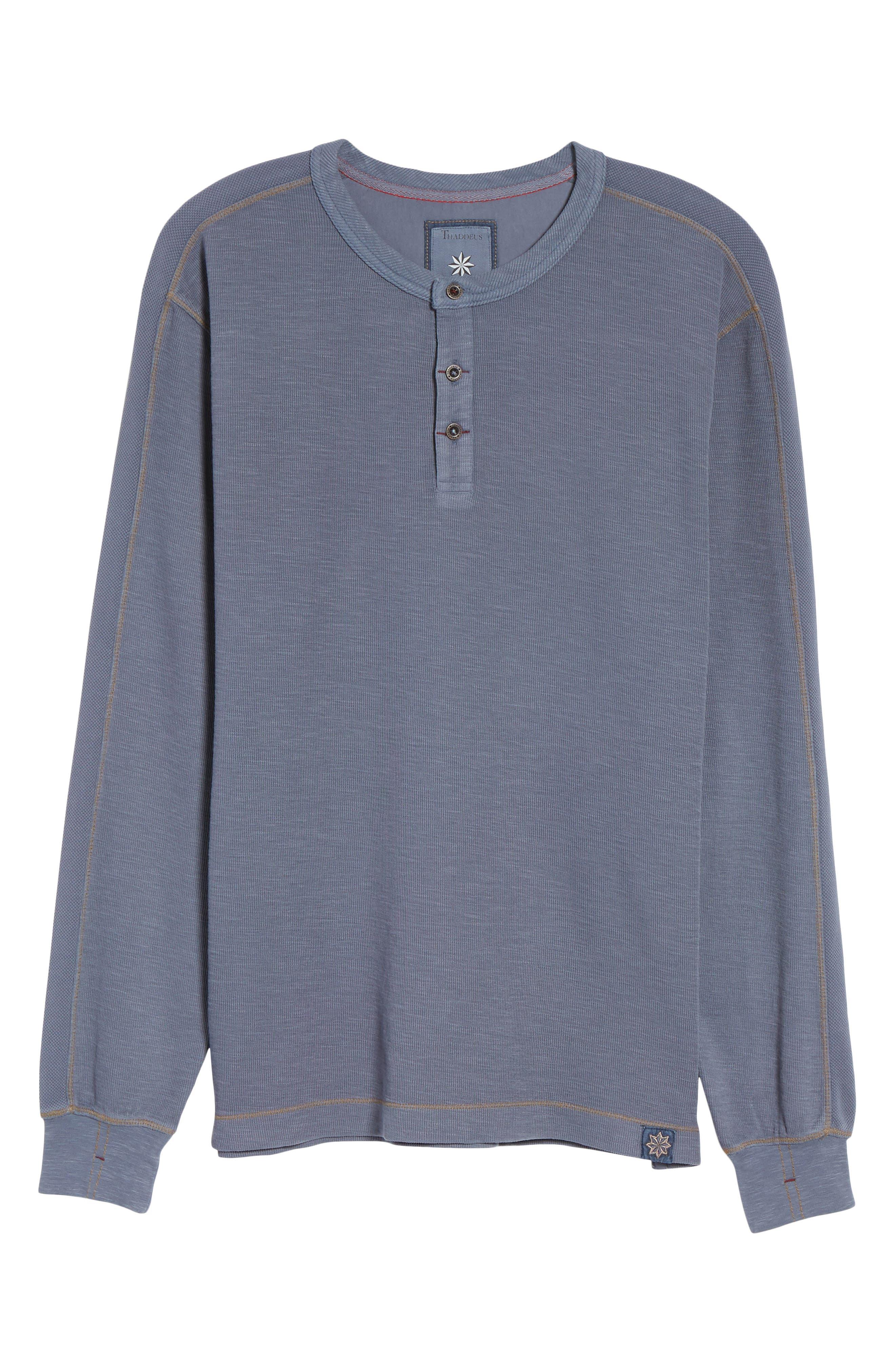 Hans Long Sleeve Henley T-Shirt,                             Alternate thumbnail 6, color,                             014