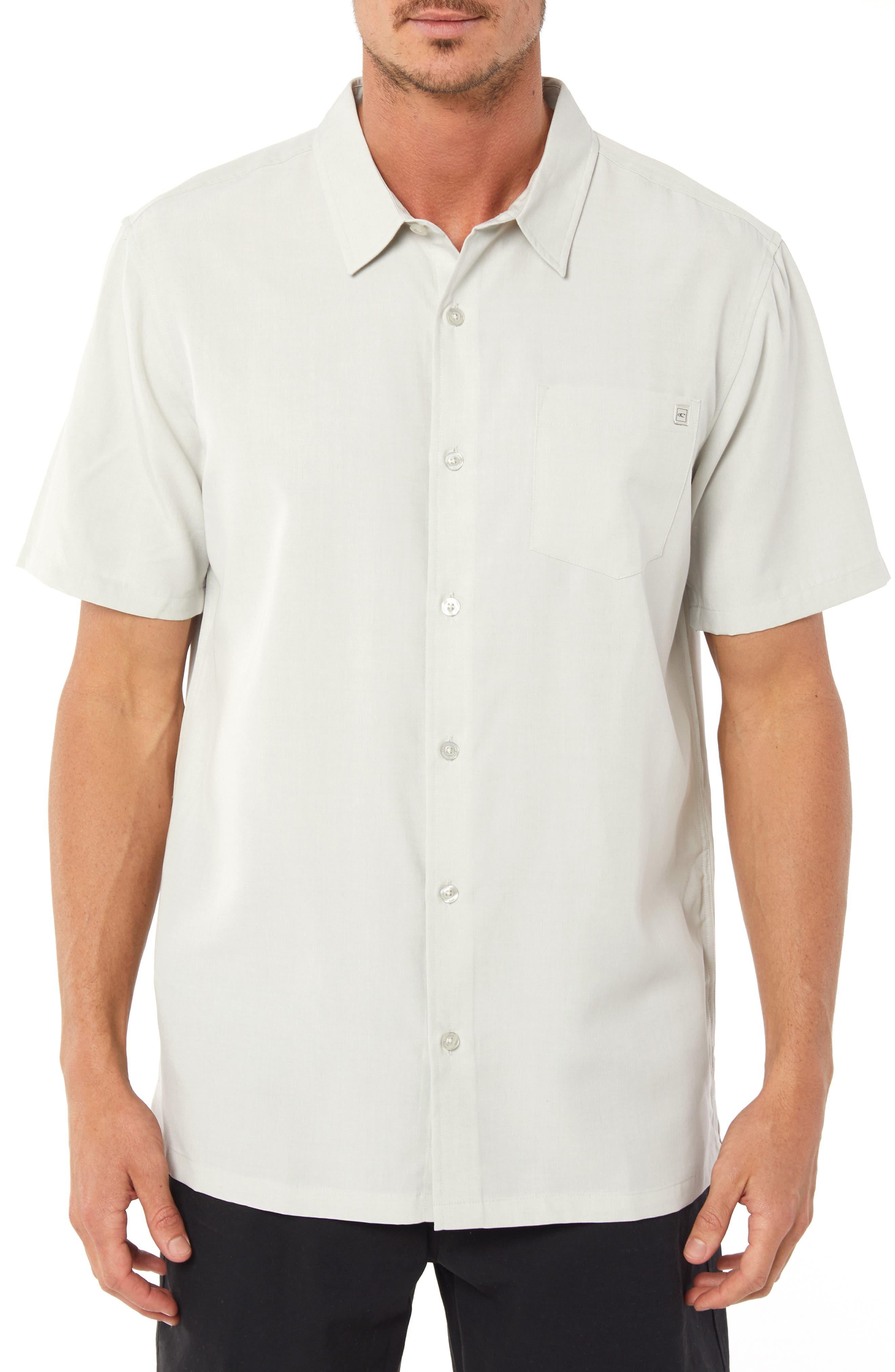 Liberty Regular Fit Short Sleeve Sport Shirt,                             Main thumbnail 1, color,                             FOG