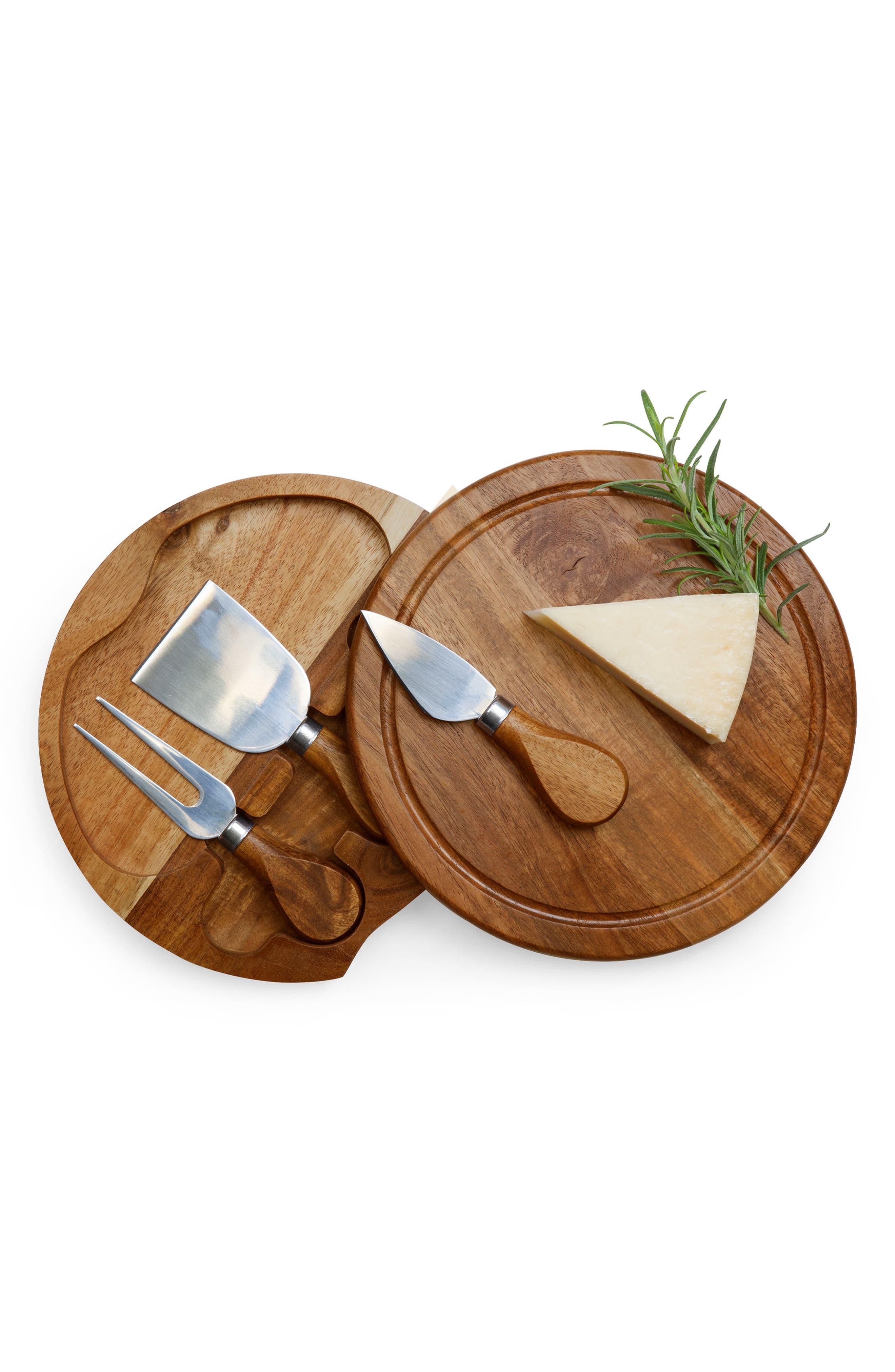 Acacia Cheese Board Set,                             Alternate thumbnail 5, color,                             200