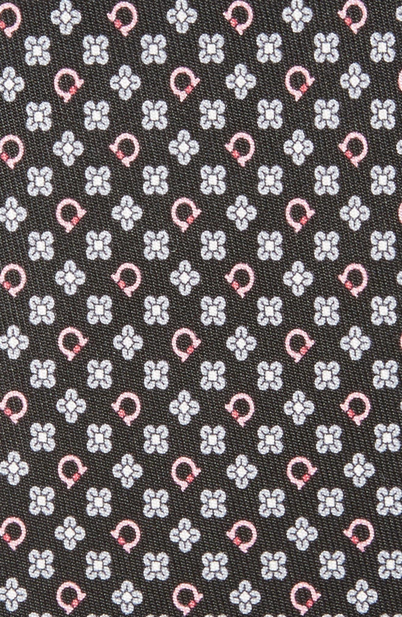 Salvia Floral Print Silk Tie,                             Alternate thumbnail 2, color,                             001