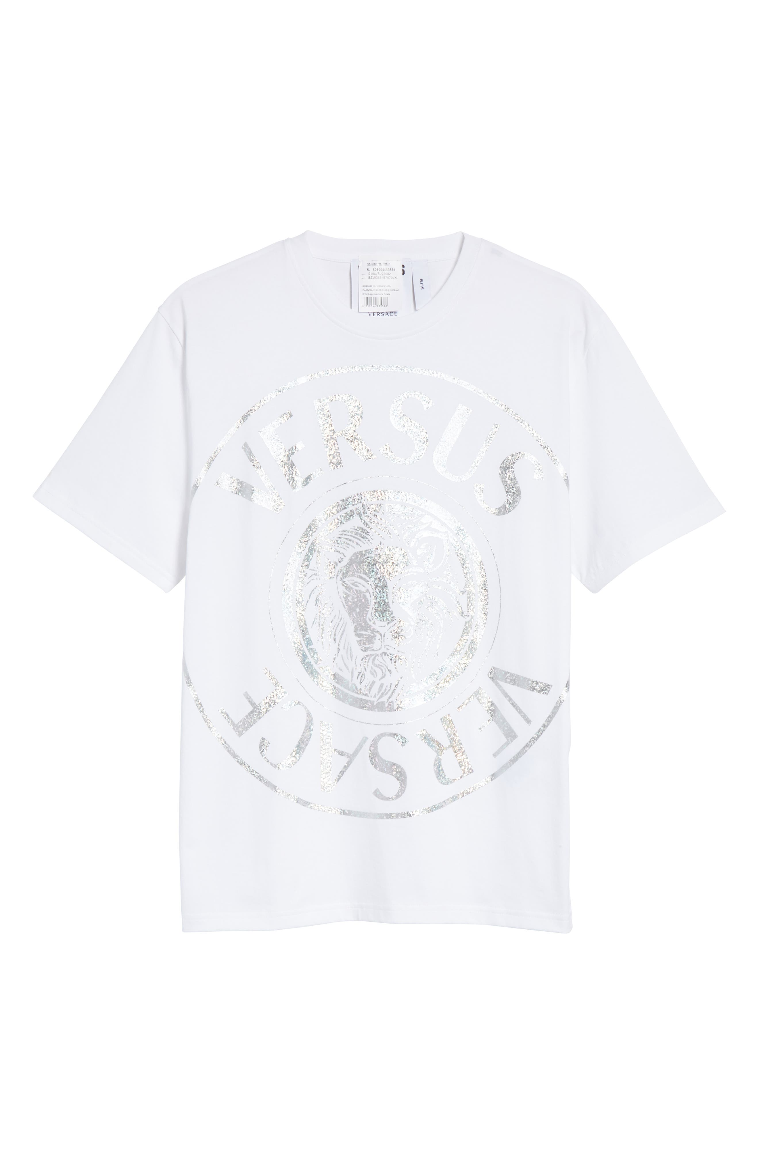 Foil T-Shirt,                             Alternate thumbnail 6, color,                             WHITE