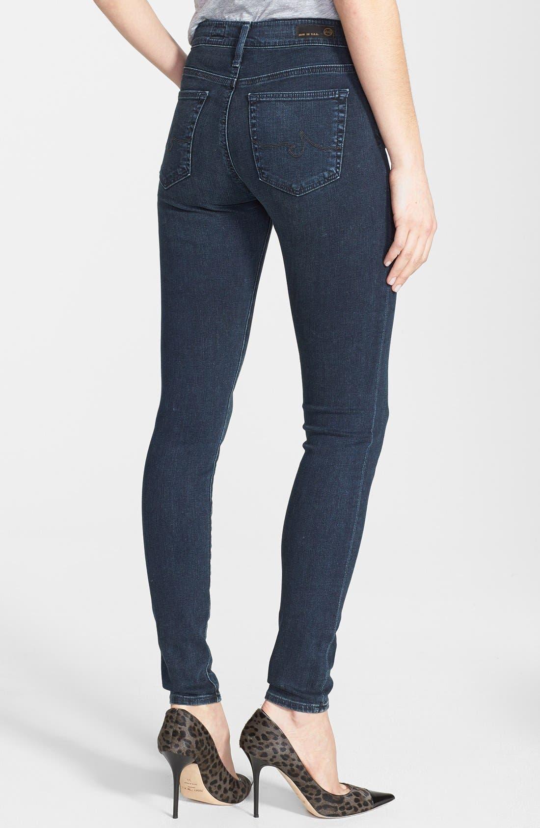 'The Farrah' High Rise Skinny Jeans,                             Alternate thumbnail 21, color,
