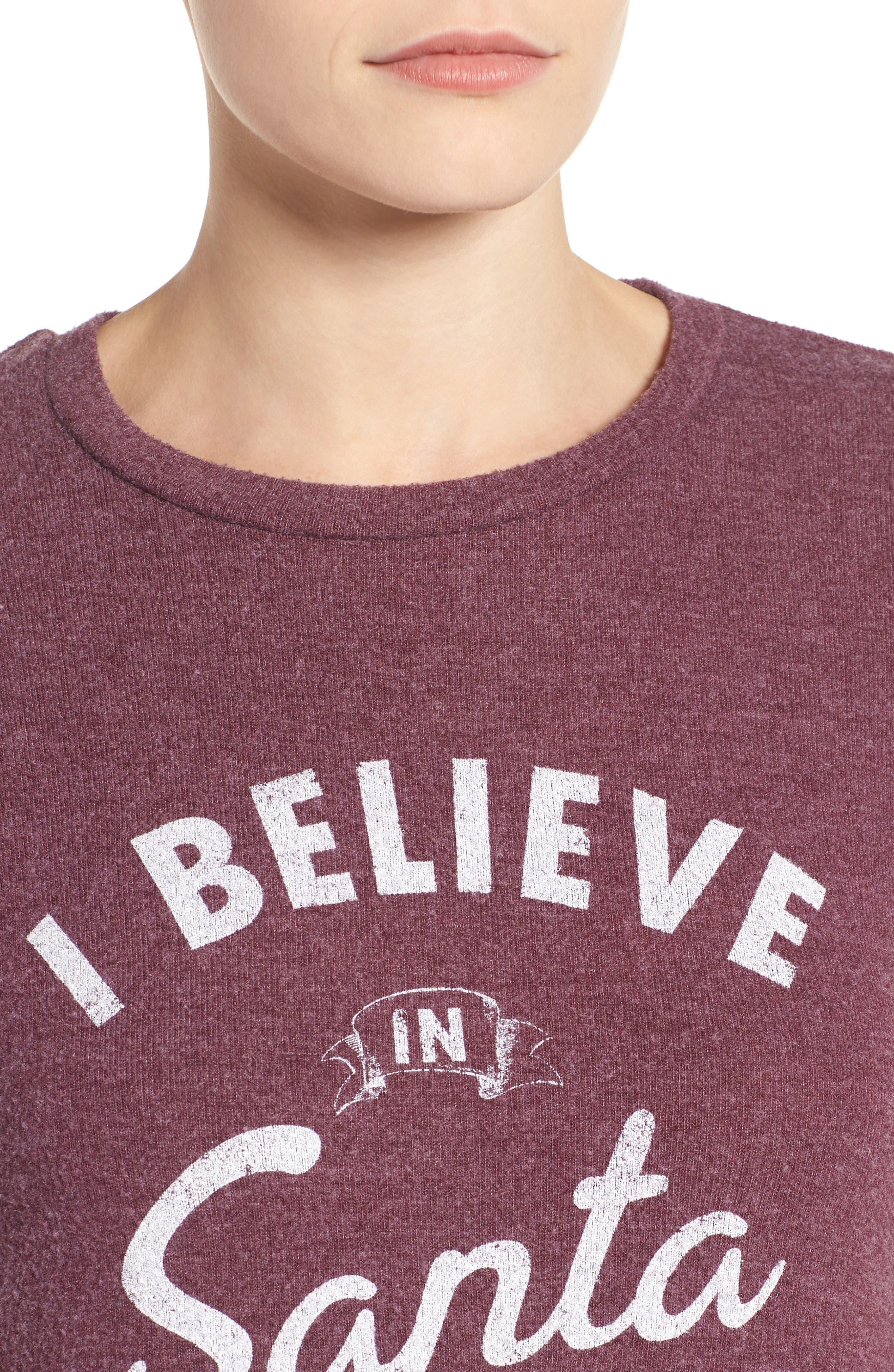 I Believe in Santa Sweatshirt,                             Alternate thumbnail 4, color,                             930