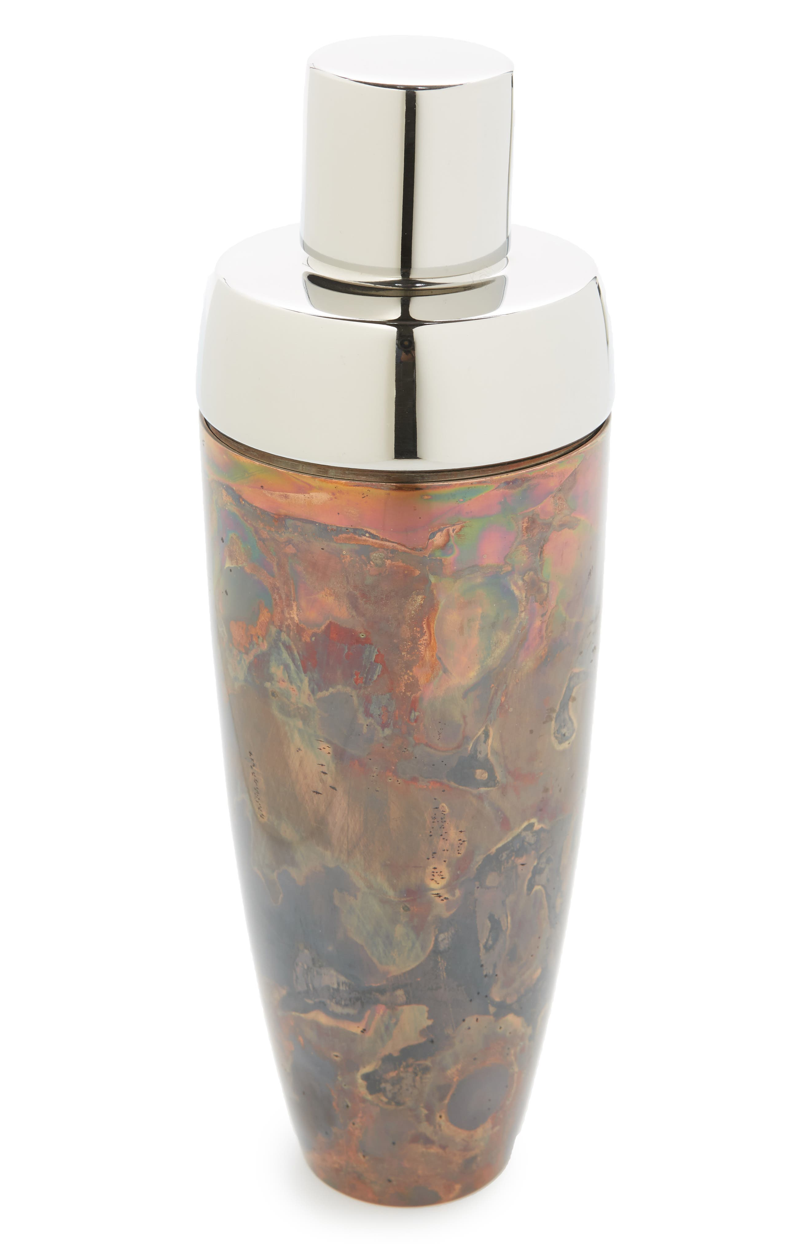Distressed Copper Cocktail Shaker,                             Main thumbnail 1, color,                             220
