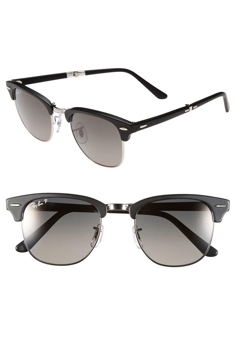 320c7f1207 Ray-Ban  Clubmaster  51mm Folding Sunglasses