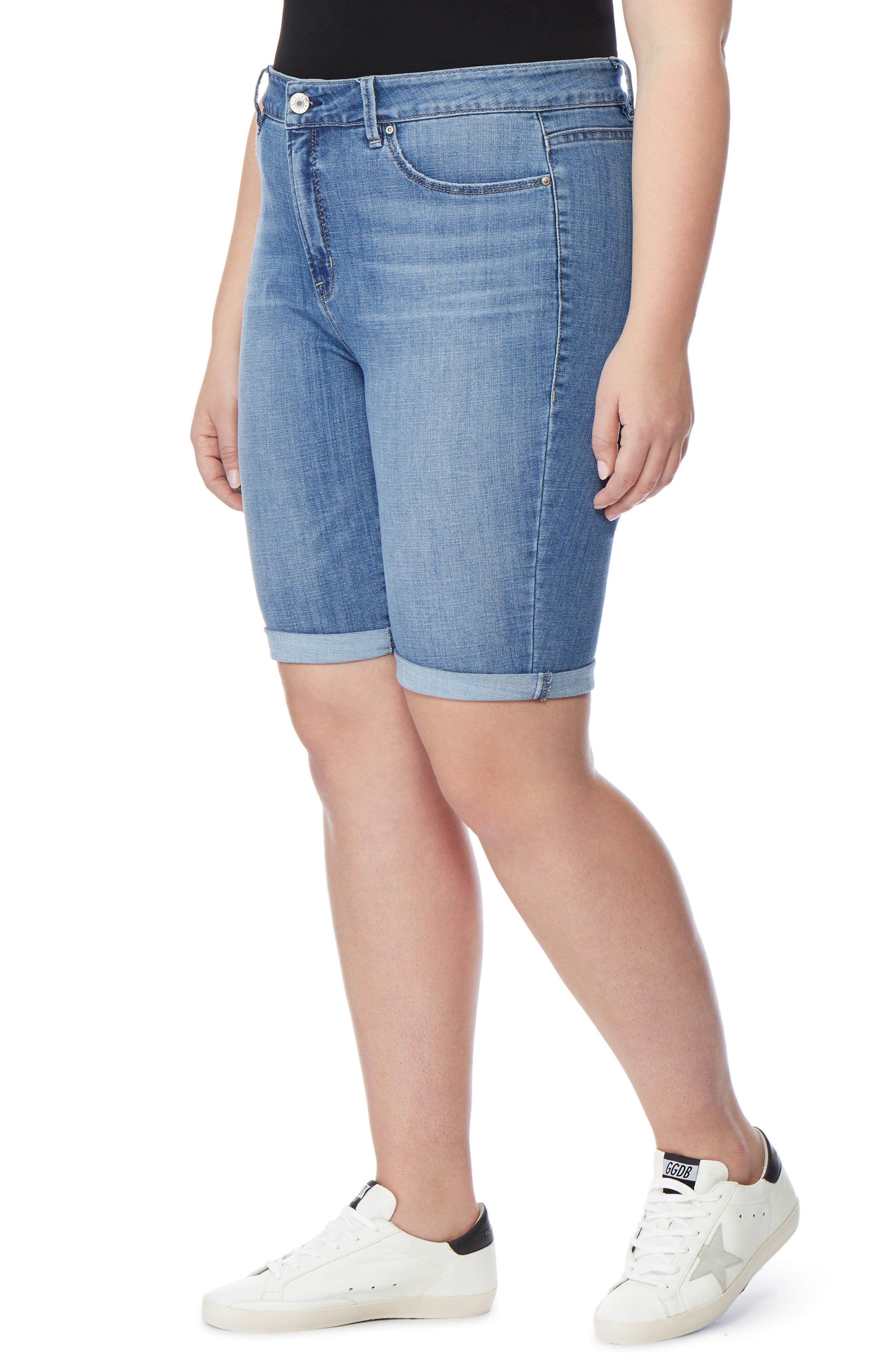 The Cruz Skinny Bermuda Shorts,                             Alternate thumbnail 3, color,                             432