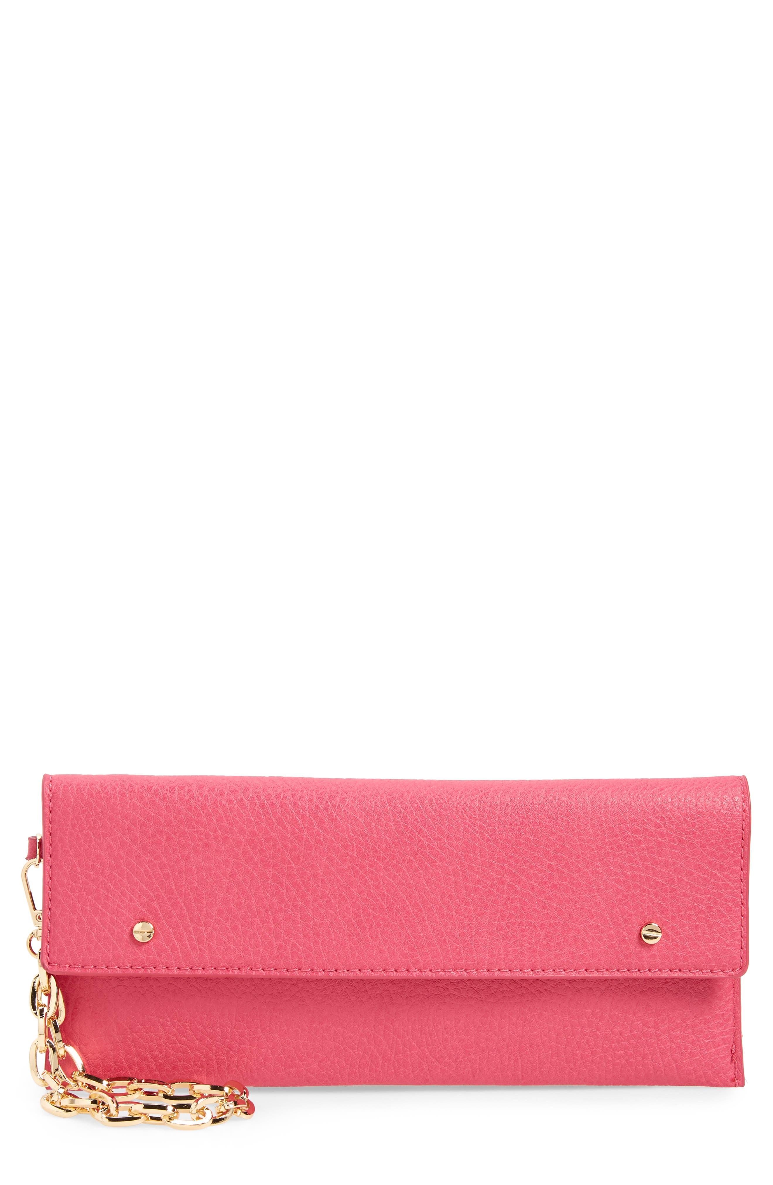 Mali + Lili April Vegan Leather Wristlet - Pink