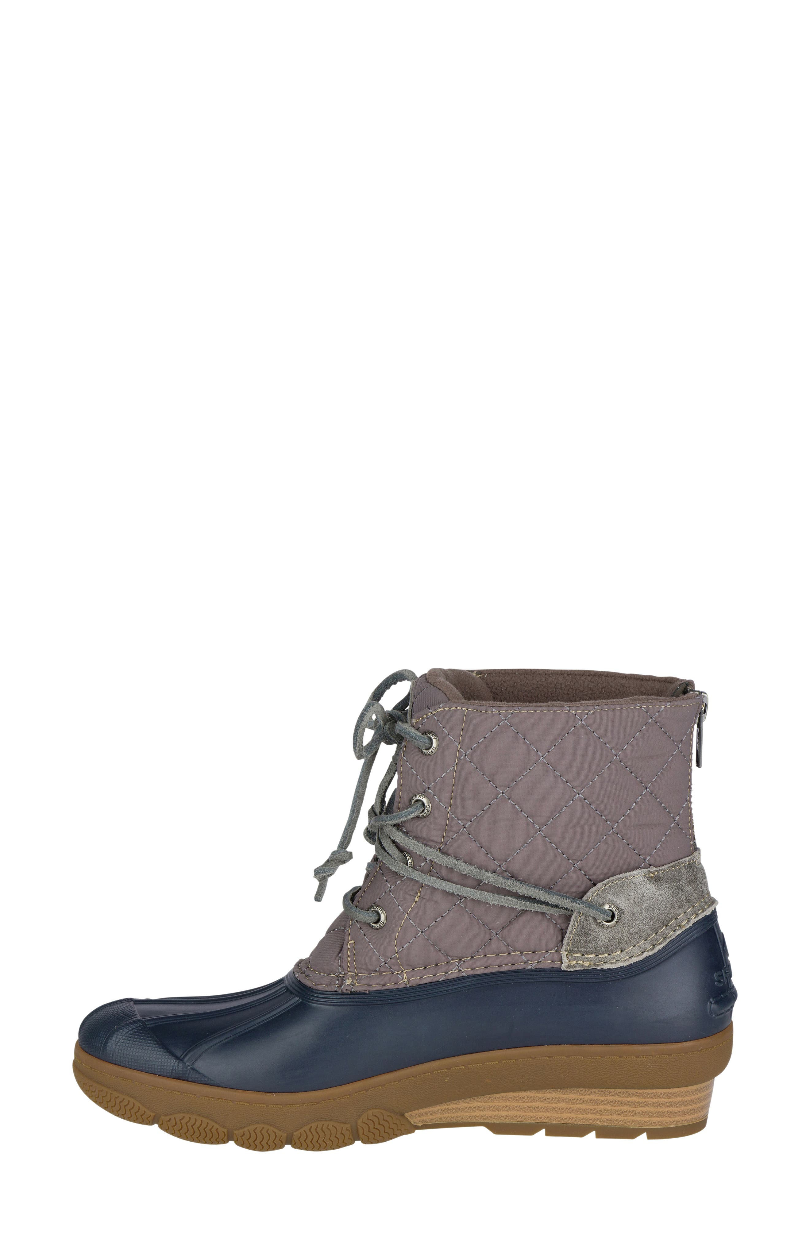 Saltwater Quilted Waterproof Boot,                             Alternate thumbnail 3, color,                             410