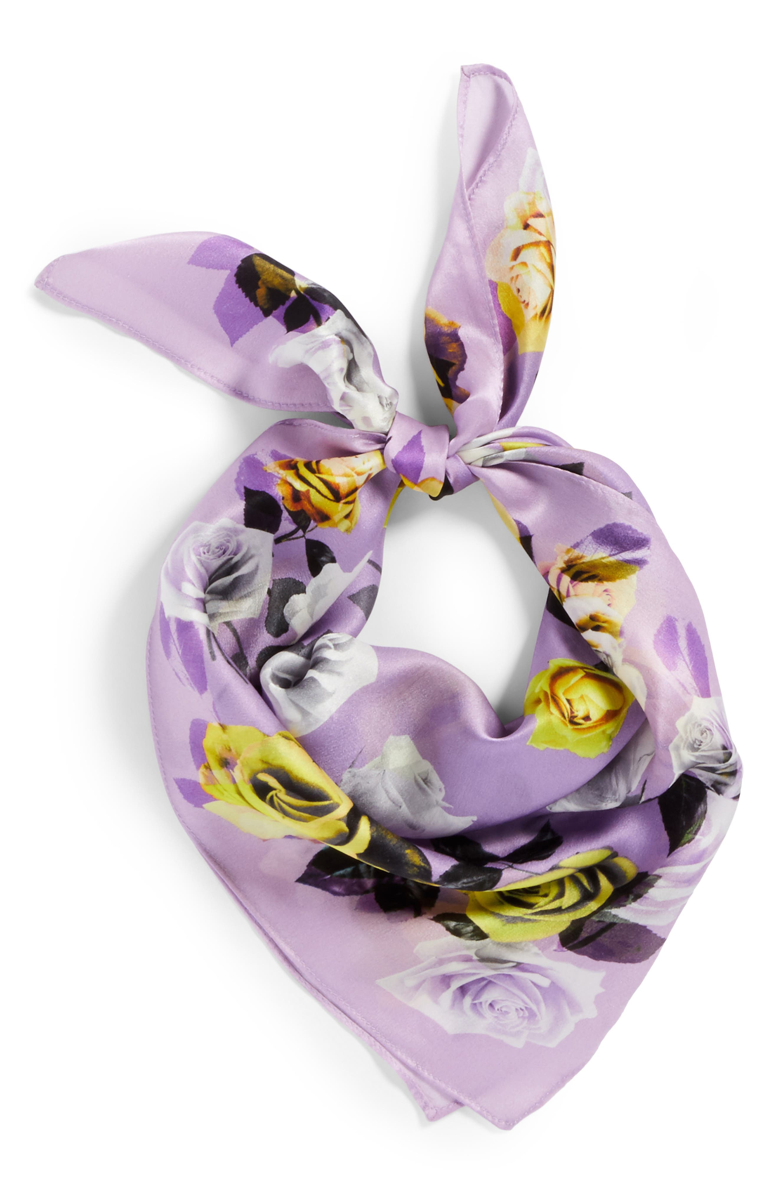Print Silk Scarf,                             Alternate thumbnail 12, color,