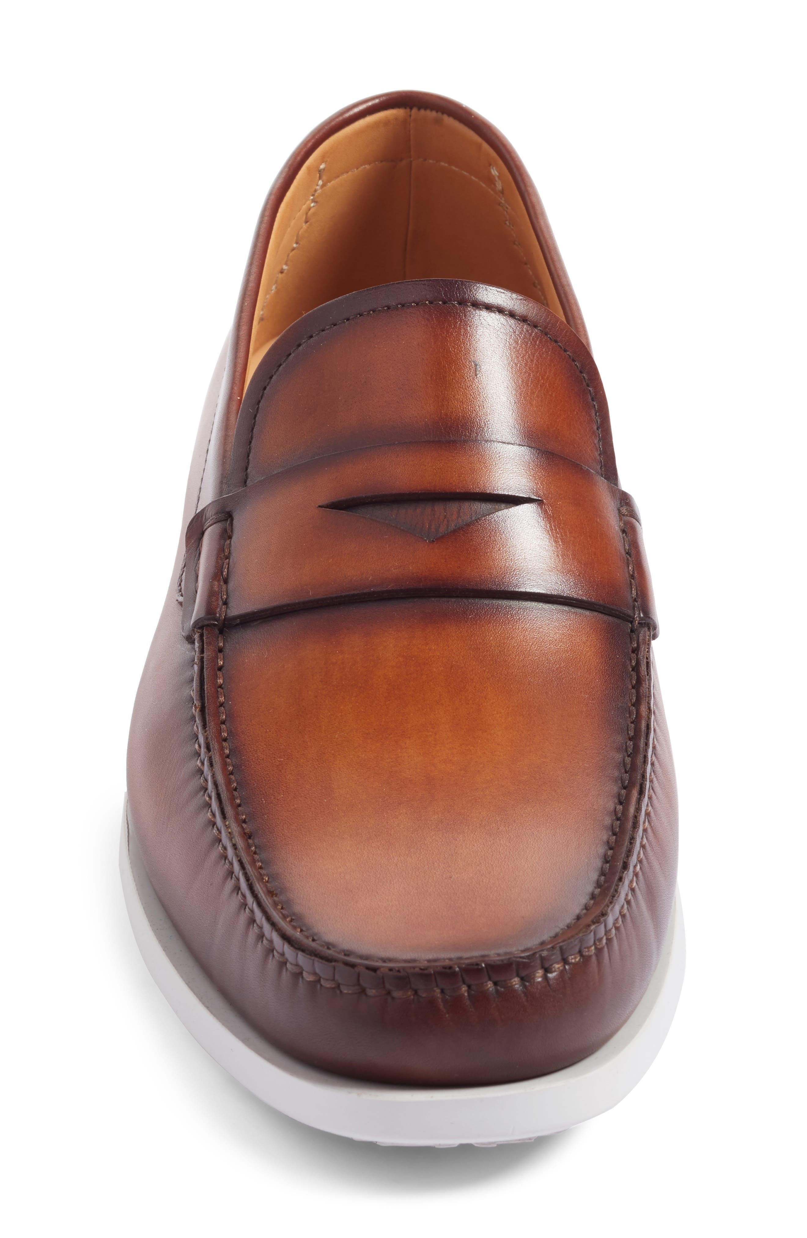 Laguna Penny Loafer,                             Alternate thumbnail 4, color,                             MID-BROWN LEATHER