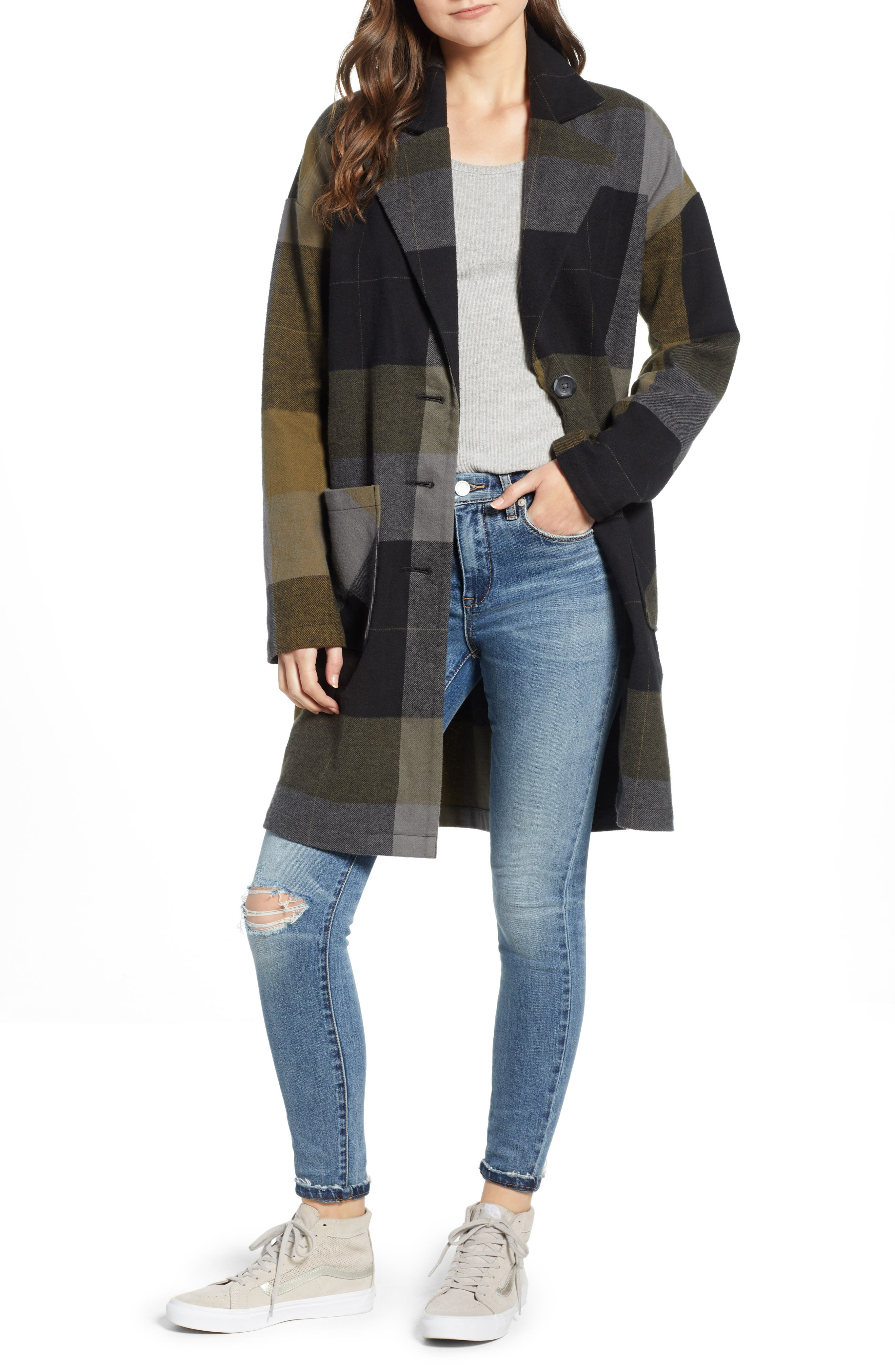 Plaid Duster,                         Main,                         color, 001