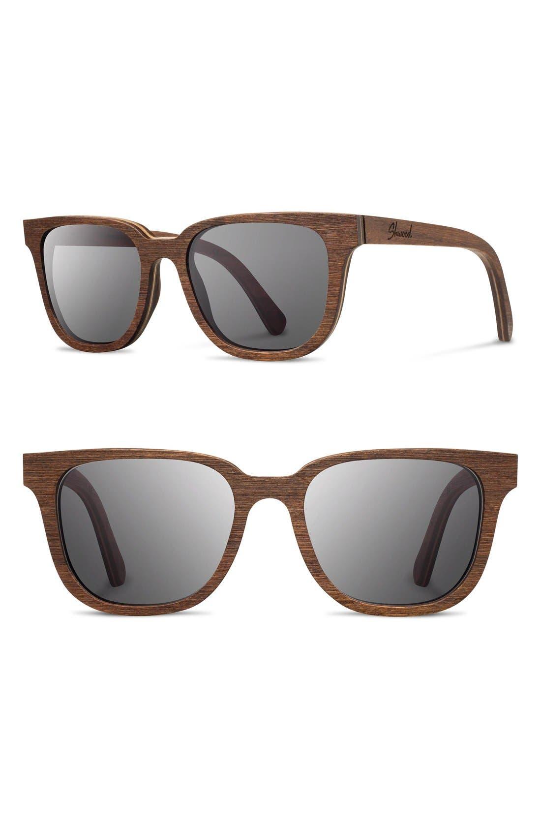 'Prescott' 52mm Wood Sunglasses,                         Main,                         color, 210