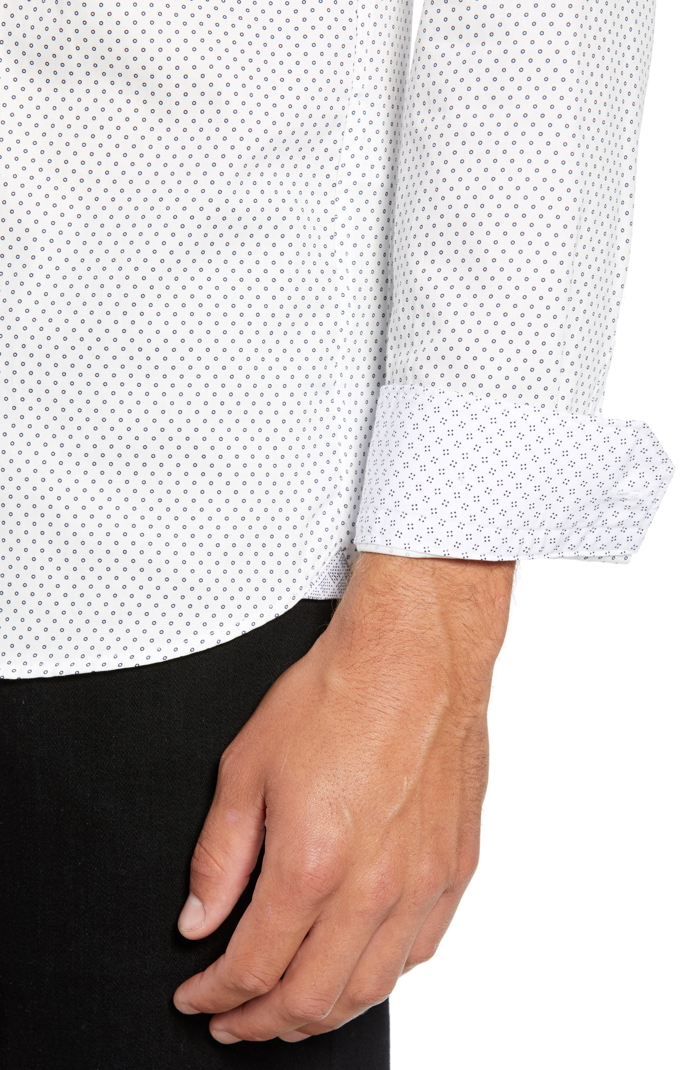 Waterloo Trim Fit Geo Print Sport Shirt,                             Alternate thumbnail 2, color,                             100