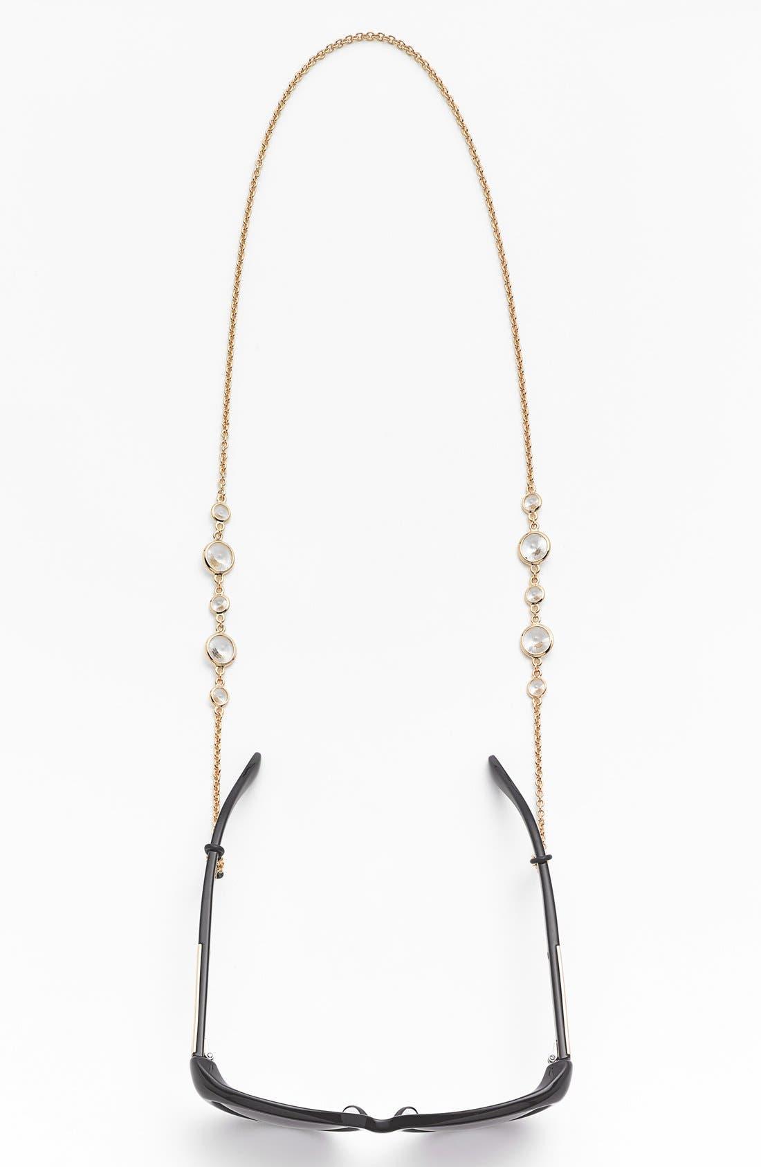 'Daphanie' Eyeglass Chain,                             Alternate thumbnail 2, color,                             CRYSTAL/ GOLD