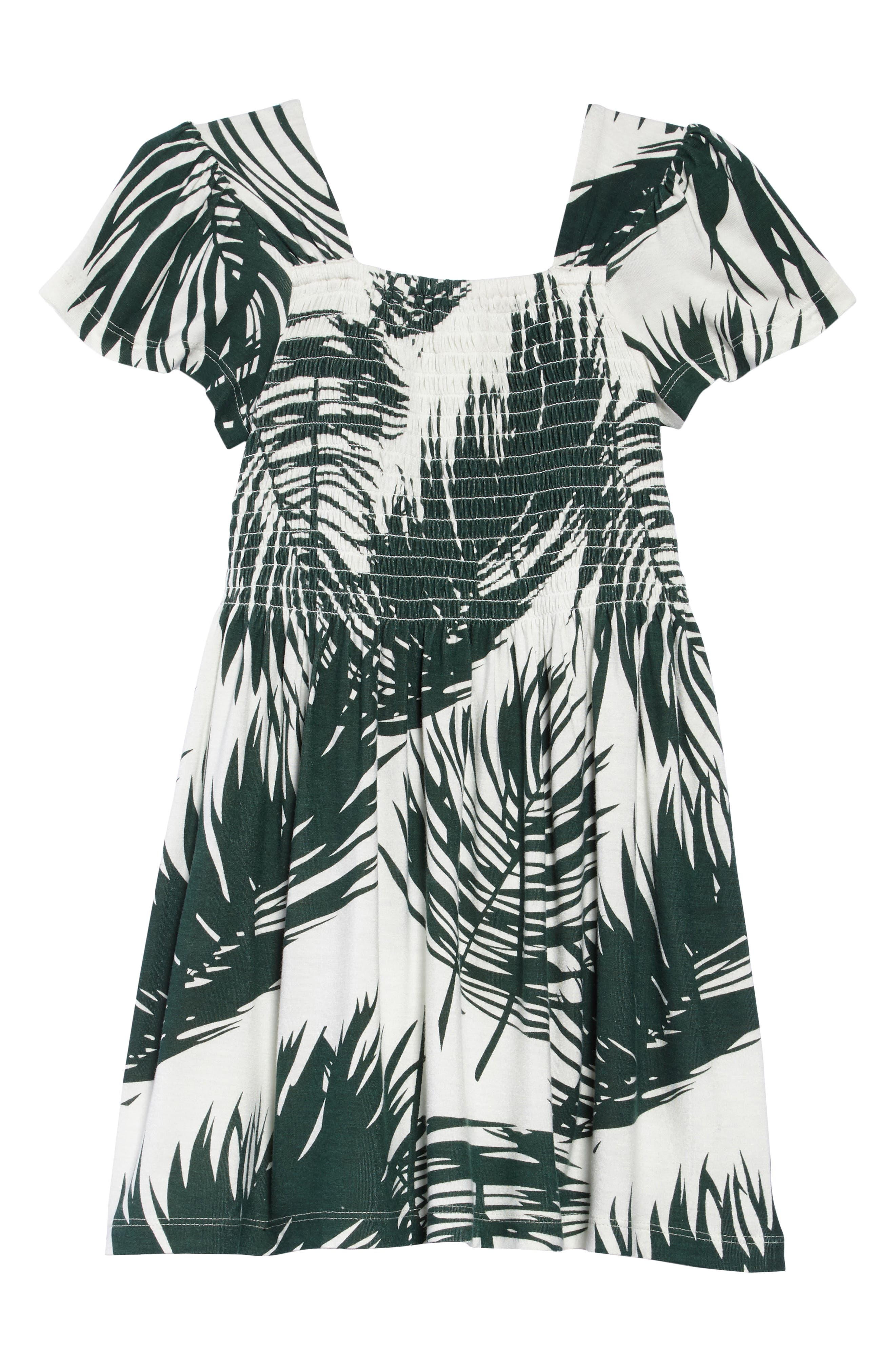 Phylis Palm Print Dress,                             Alternate thumbnail 2, color,                             900