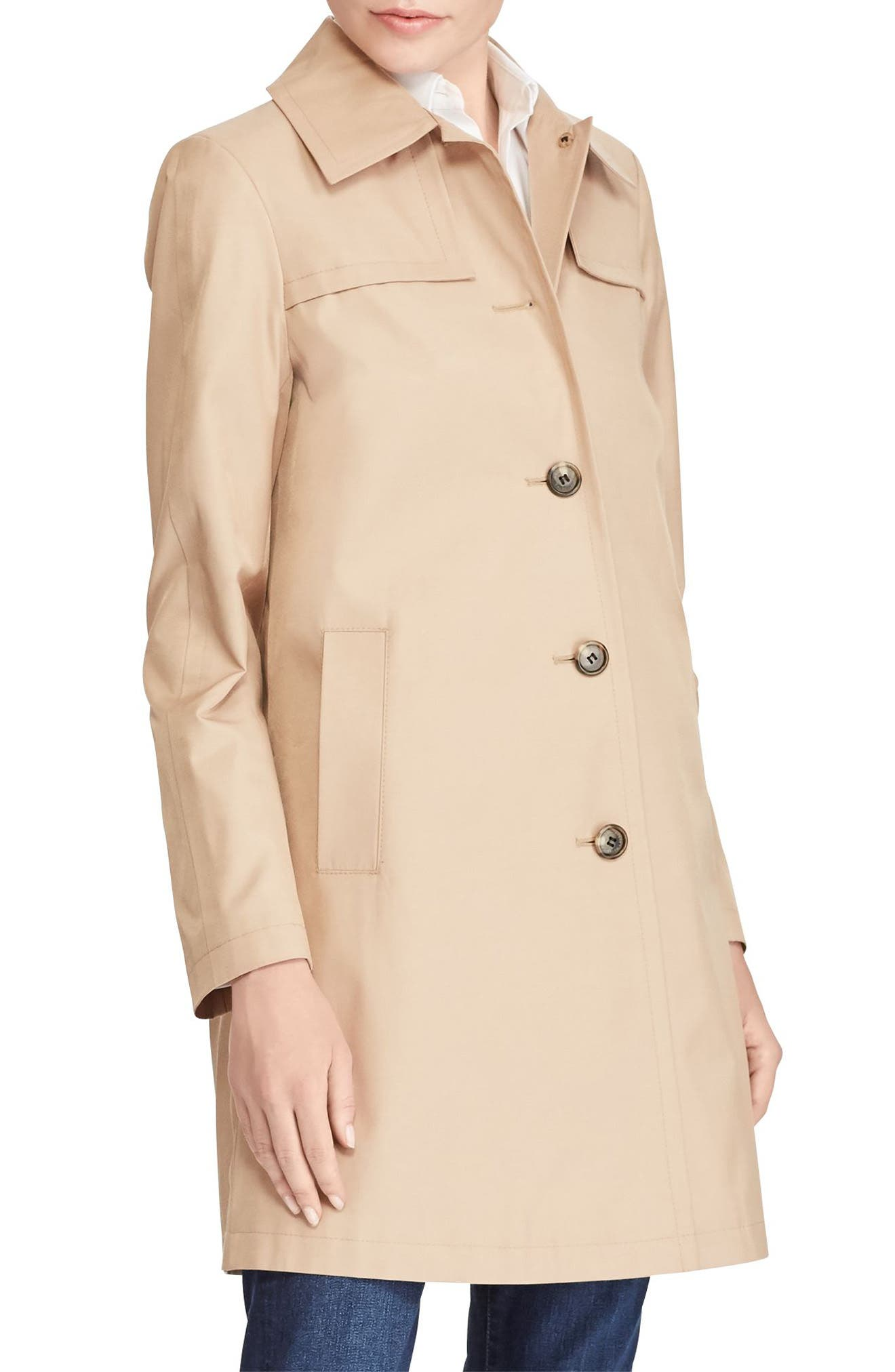 A-Line Trench Coat,                             Main thumbnail 2, color,