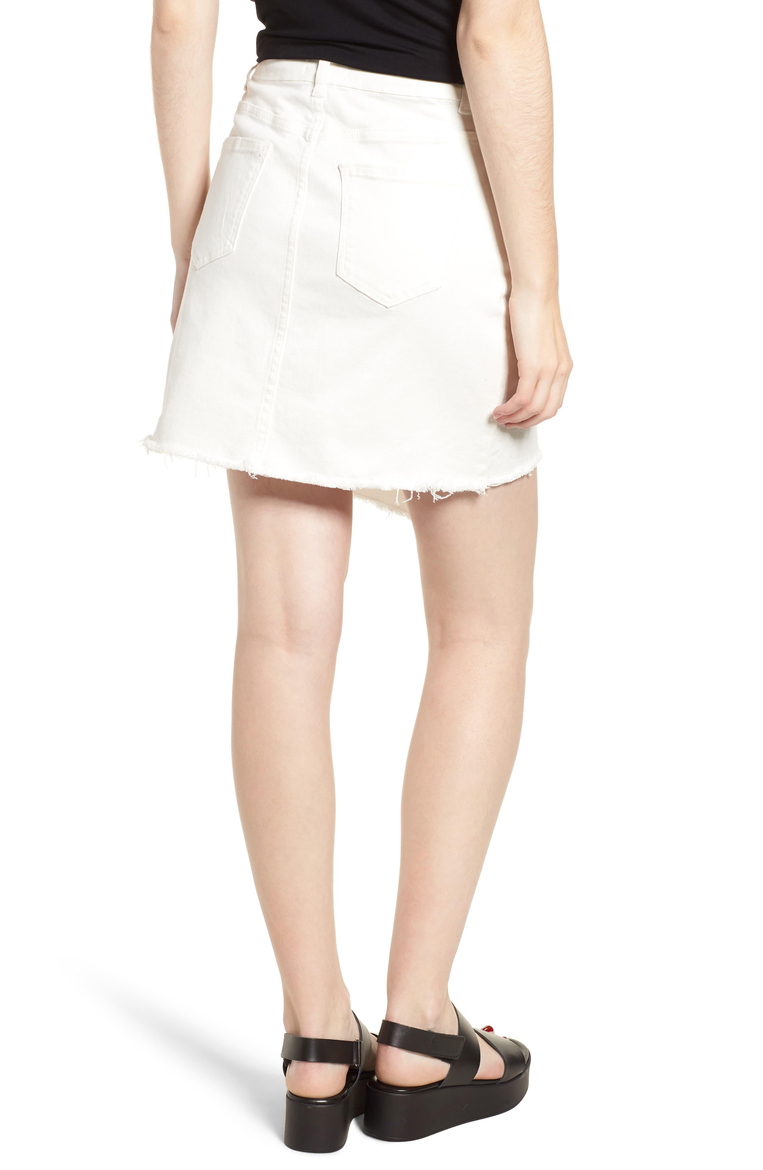 Asymmetrical Denim Skirt,                             Alternate thumbnail 2, color,                             100
