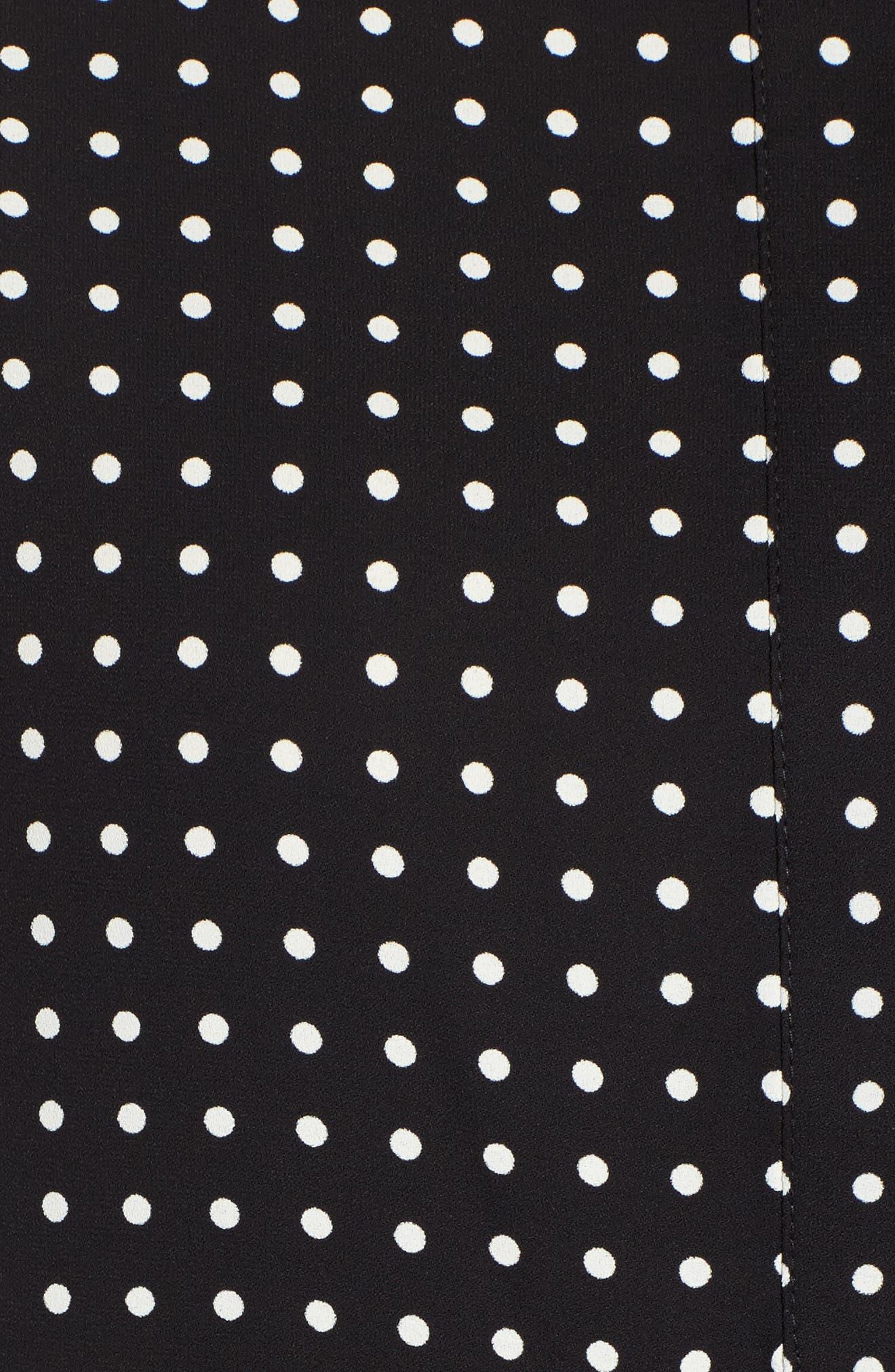 Mixed Dot Print Blouse,                             Alternate thumbnail 5, color,                             BLACK/ WHITE