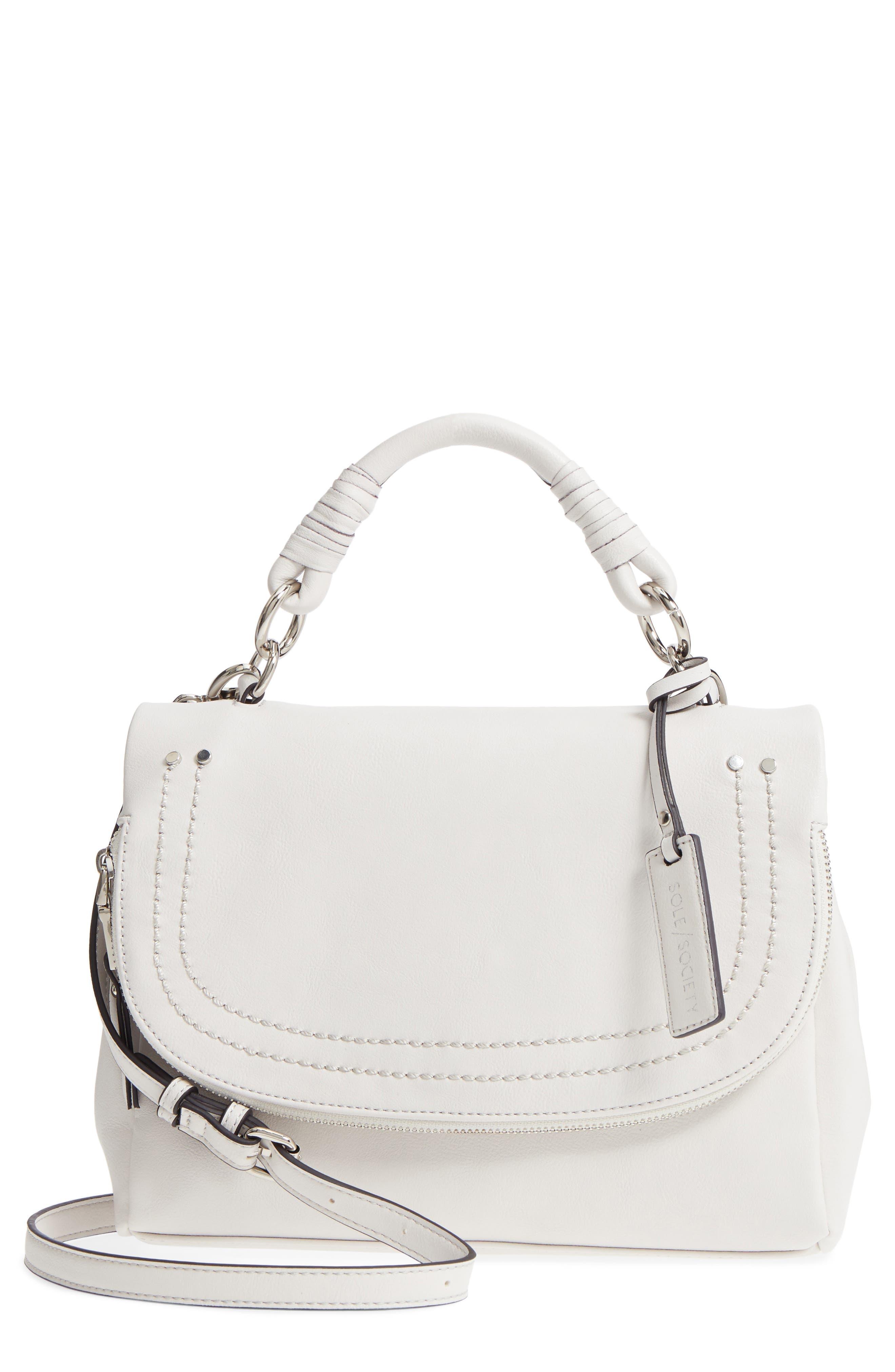 Top Handle Faux Leather Crossbody Bag,                             Main thumbnail 1, color,                             101