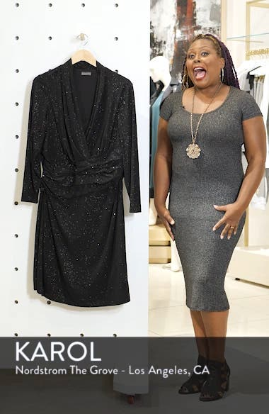 Wrap Front Sparkle Jersey Dress, sales video thumbnail
