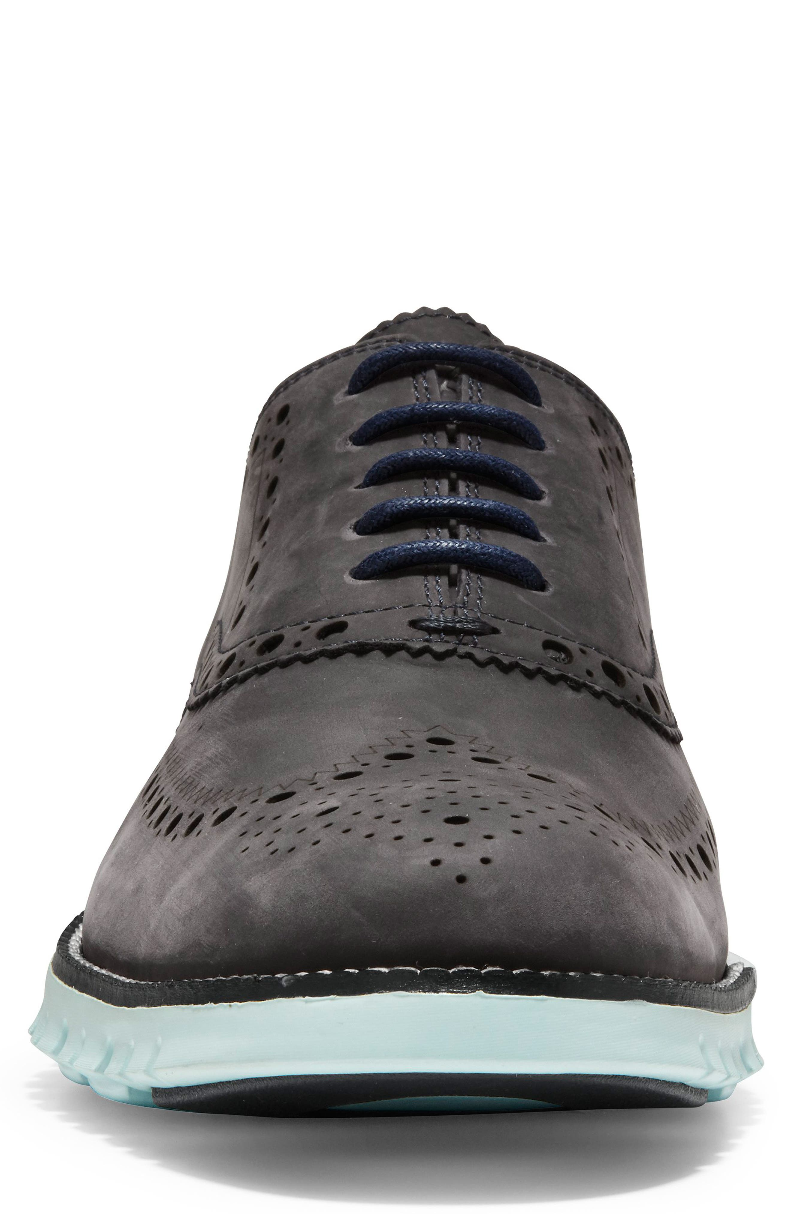 'ZeroGrand' Wingtip Oxford,                             Alternate thumbnail 4, color,                             PEACOAT/ MIST