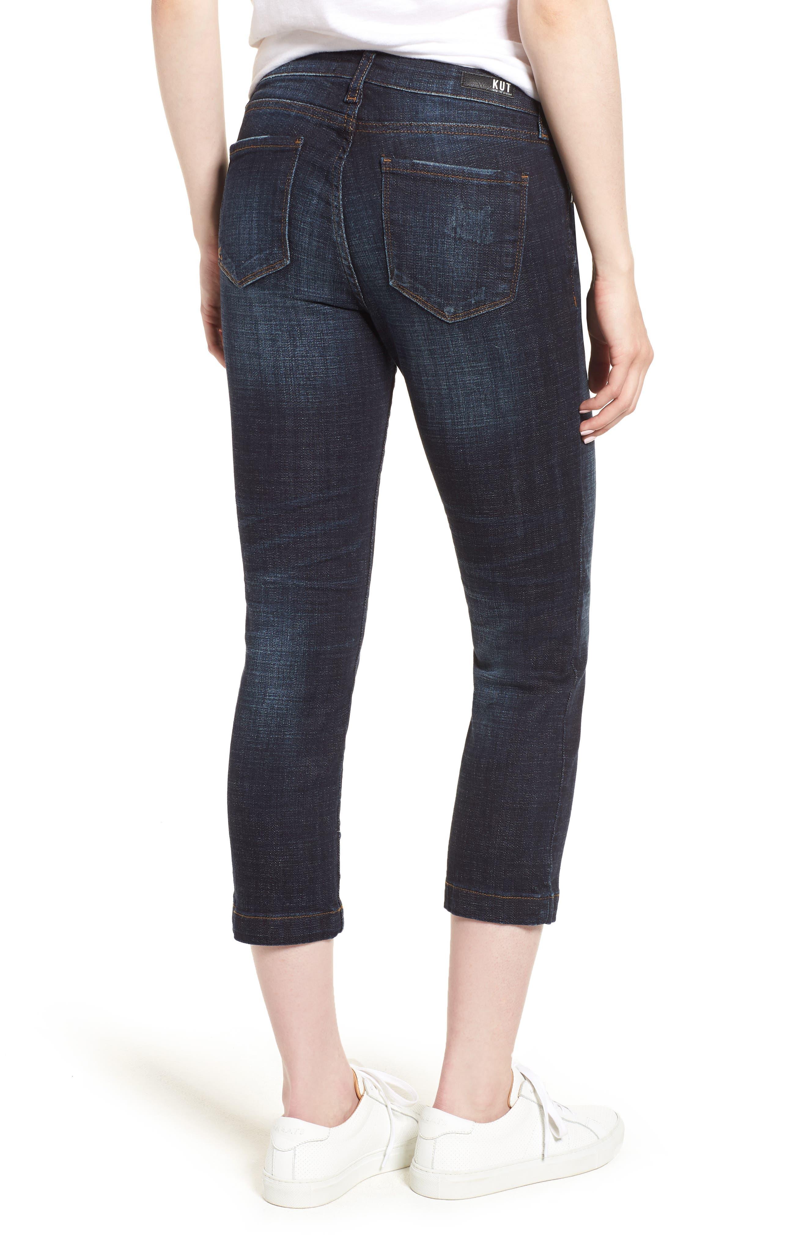 KUT from the Kloth Lauren Crop Straight Leg Jeans,                             Alternate thumbnail 2, color,                             440