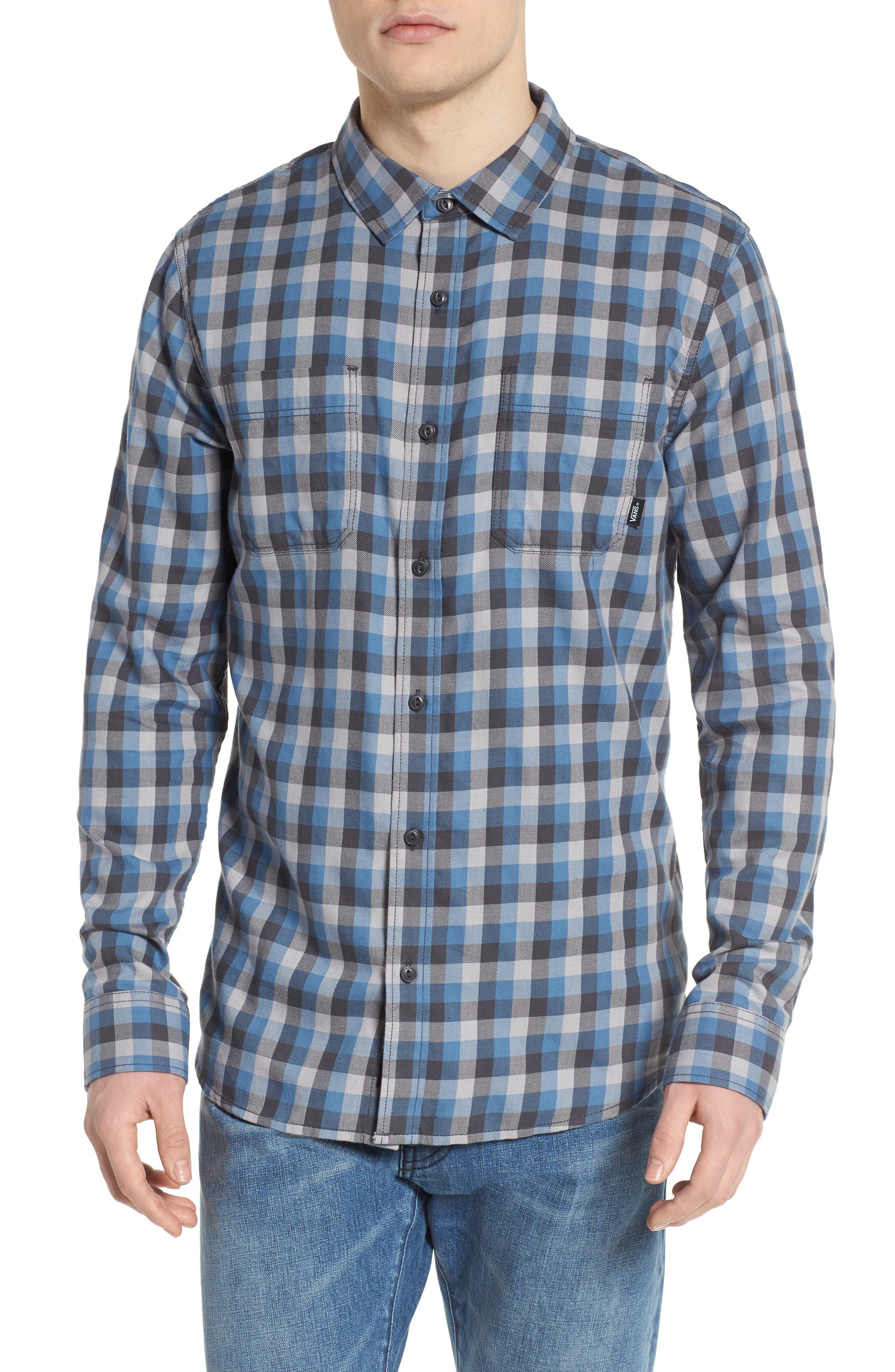 Alameda II Plaid Flannel Shirt,                             Main thumbnail 1, color,                             030