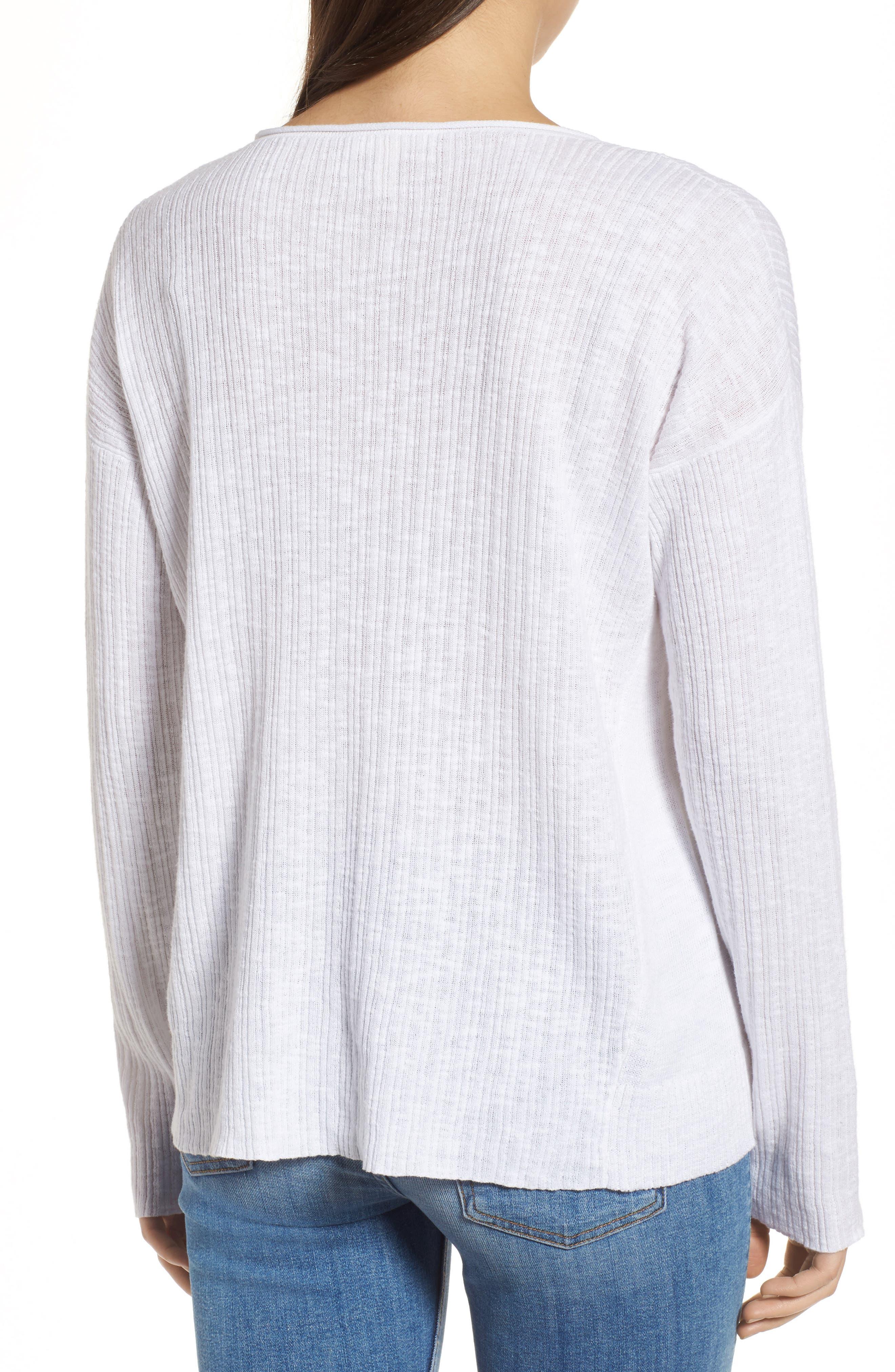 Organic Linen & Cotton Crewneck Sweater,                             Alternate thumbnail 6, color,