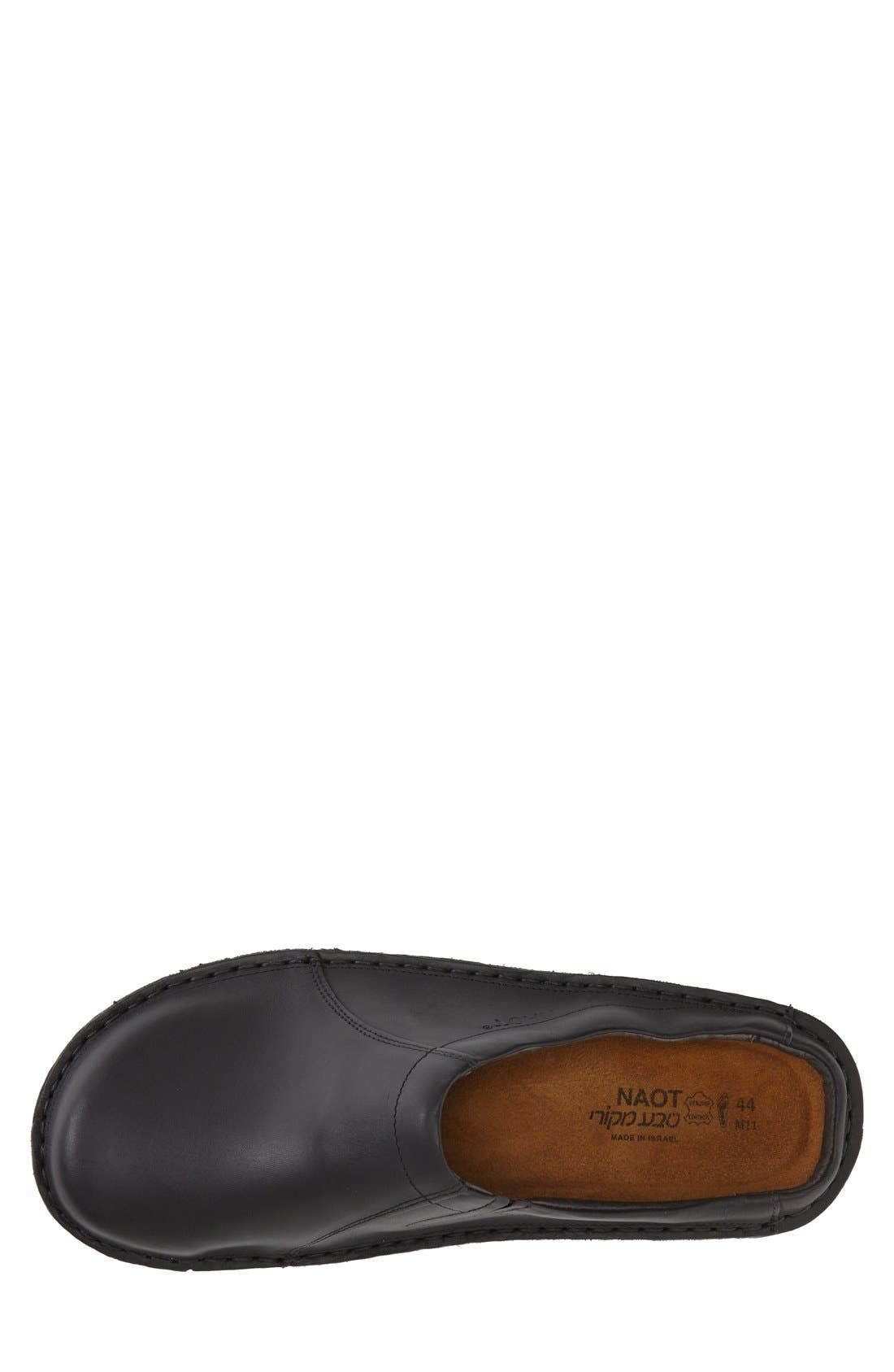 Bjorn Clog,                             Alternate thumbnail 3, color,                             BLACK MATTE LEATHER