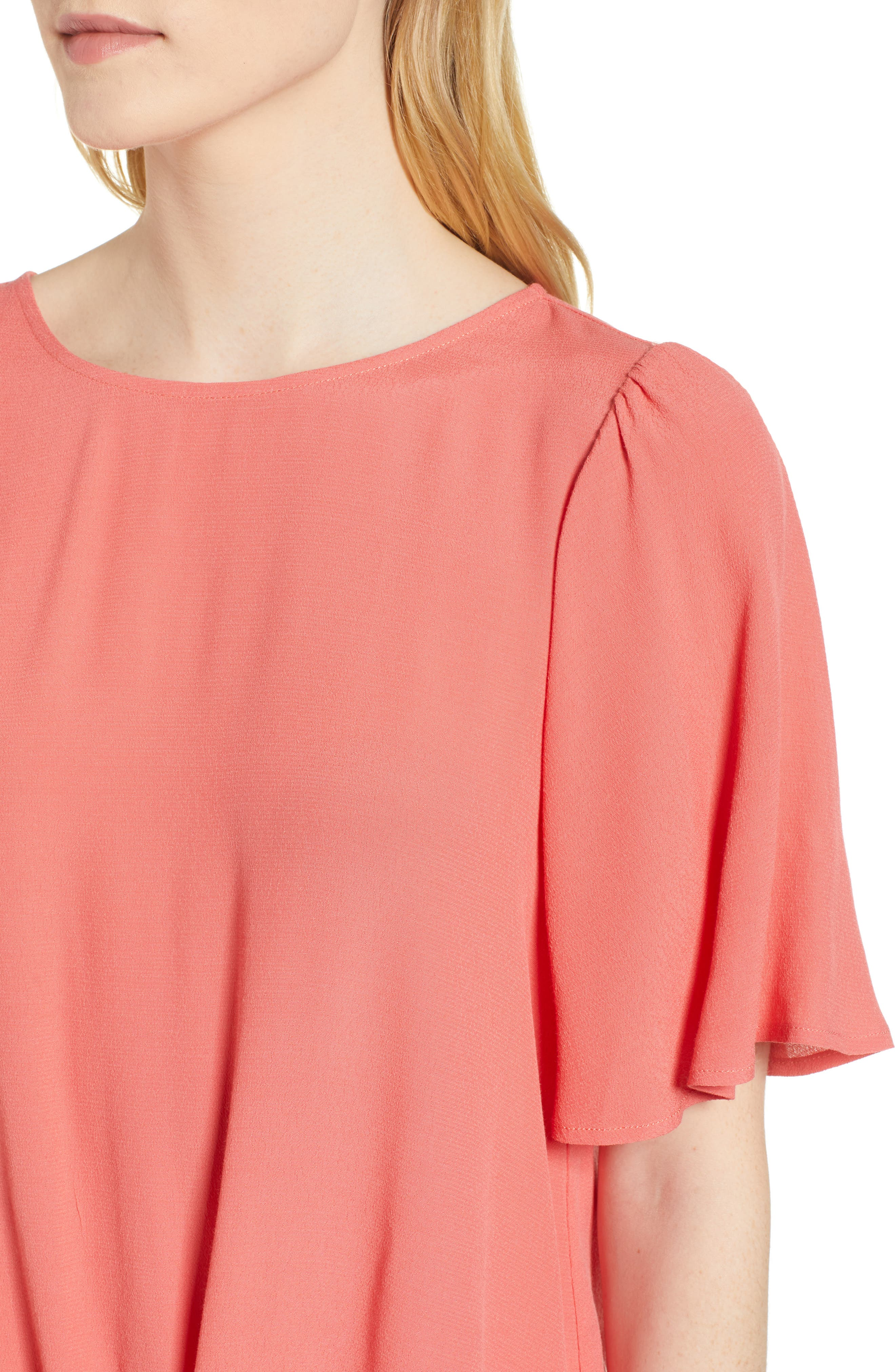 Ruffle Tie Front Top,                             Alternate thumbnail 17, color,