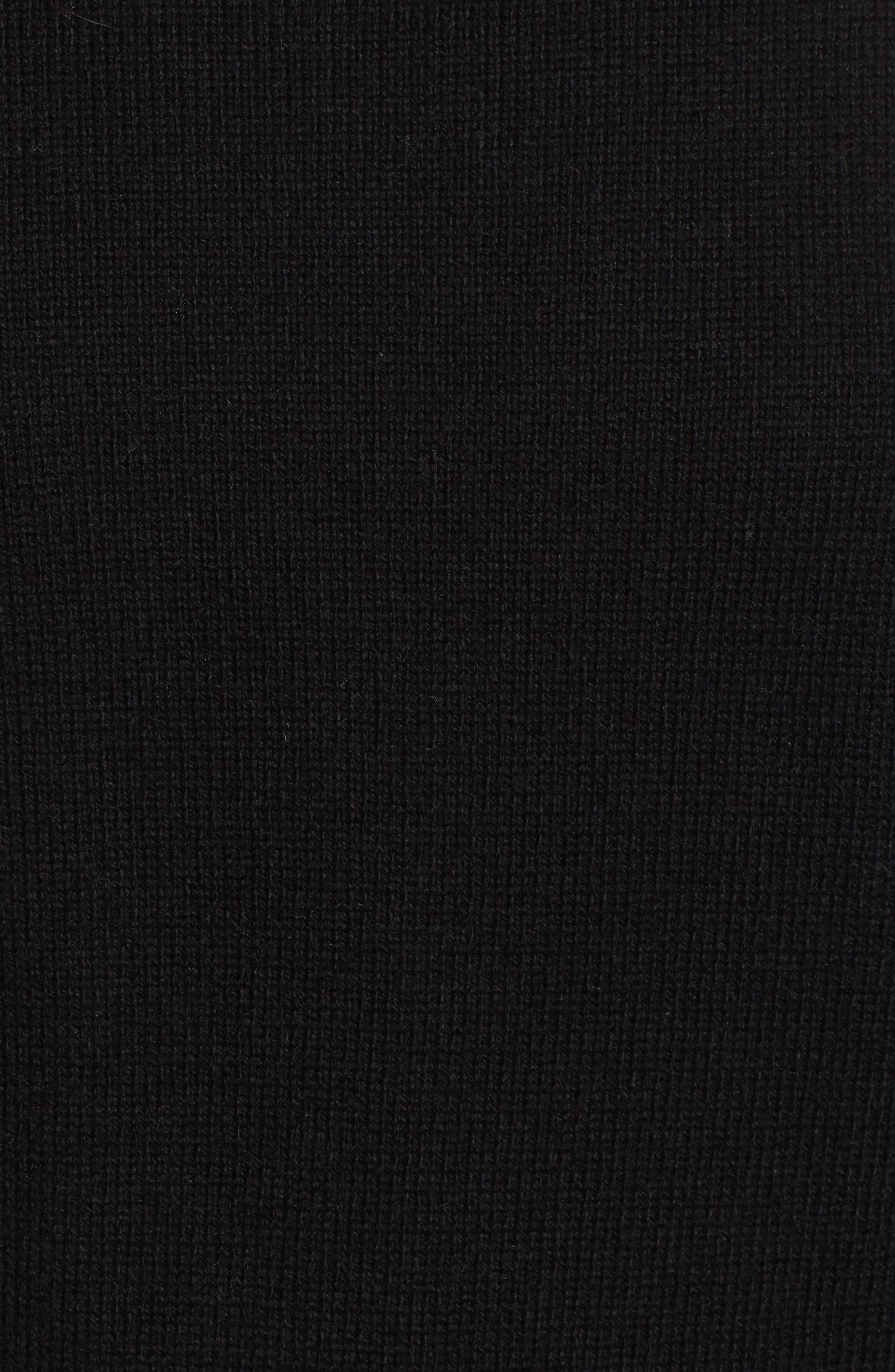 Bateau Neck Blouson Sleeve Sweater,                             Alternate thumbnail 5, color,                             001