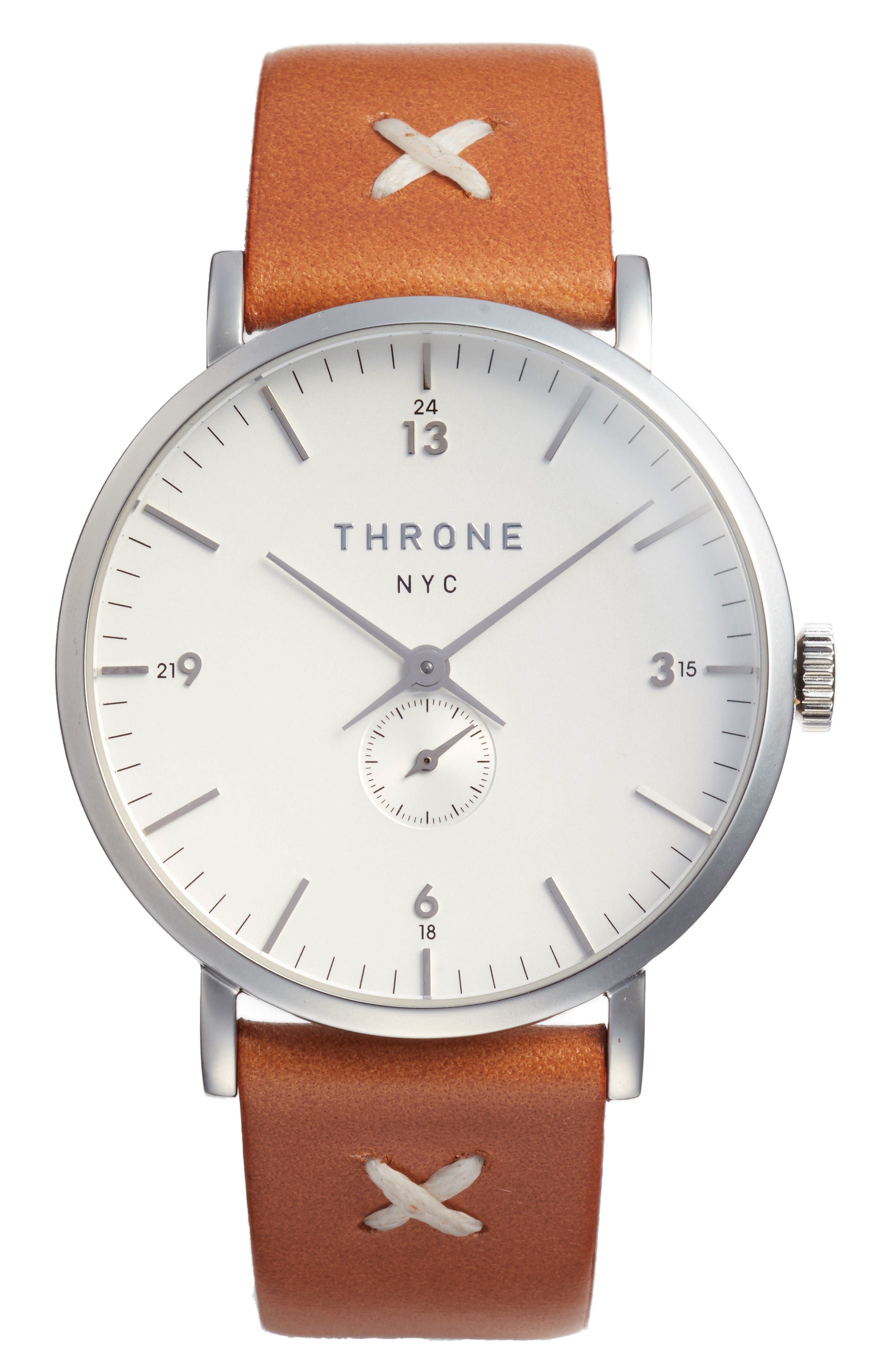 1.0 Leather Strap Watch, 40mm,                             Main thumbnail 4, color,