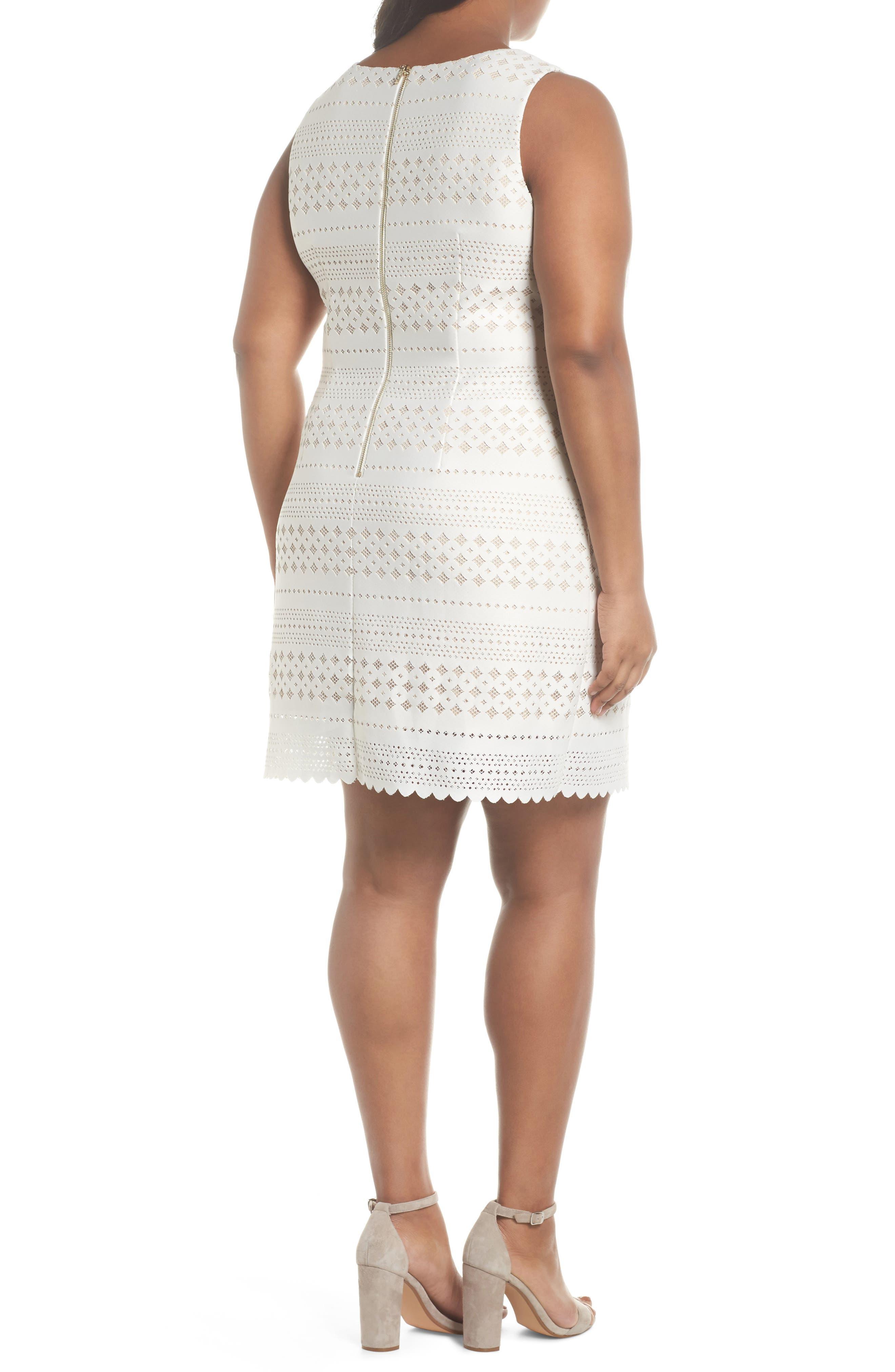 Lasercut Sheath Dress,                             Alternate thumbnail 2, color,