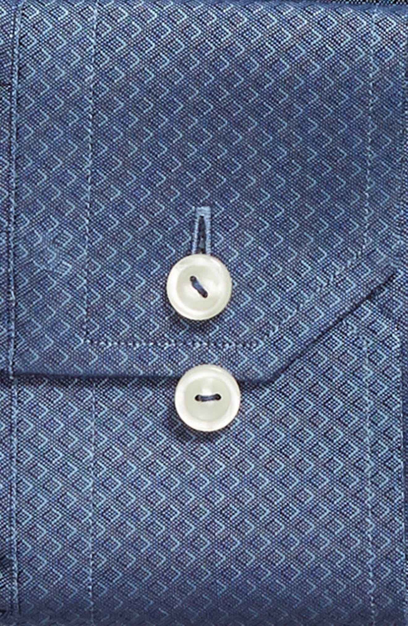 Slim Fit Diamond Print Dress Shirt,                             Alternate thumbnail 6, color,                             400
