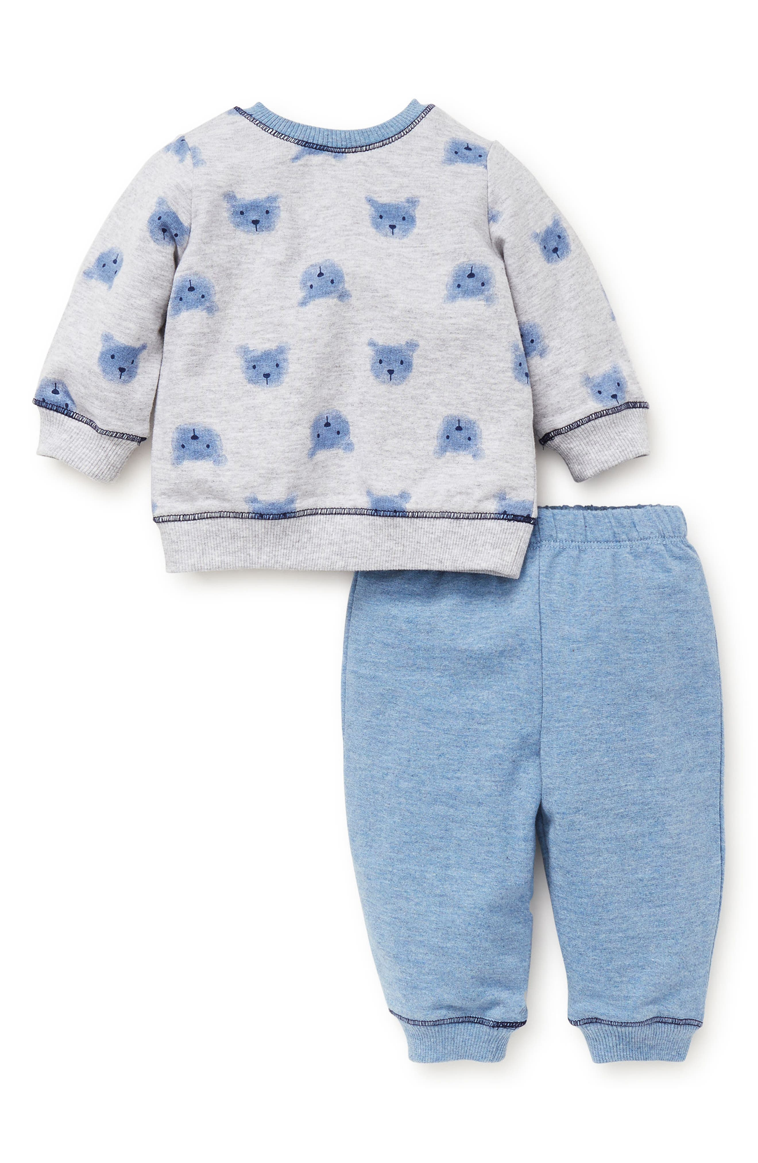 Bears Sweatshirt & Sweatpants Set,                             Alternate thumbnail 2, color,                             BLUE