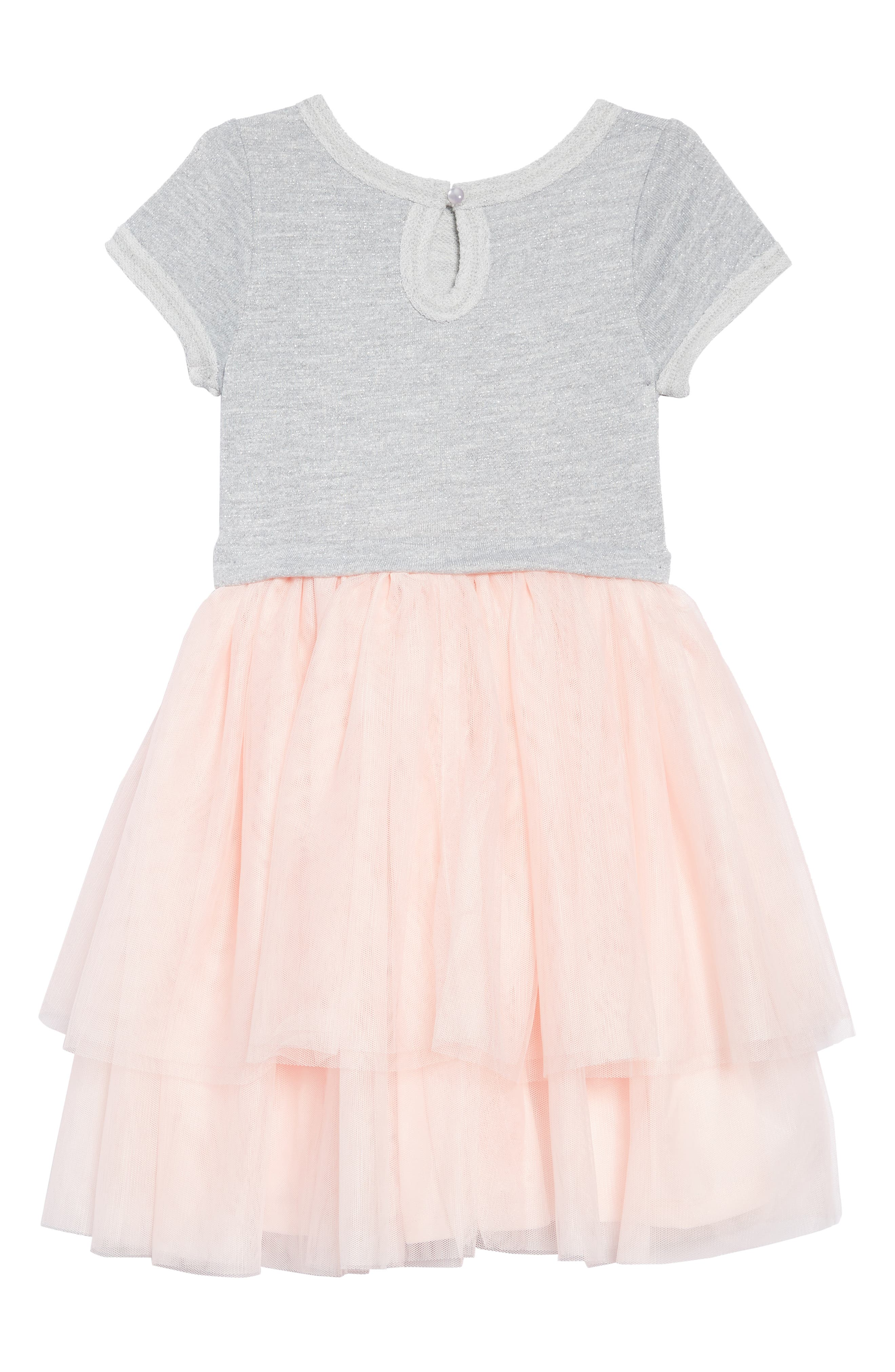 Tiered Tutu Dress,                             Alternate thumbnail 2, color,                             PINK