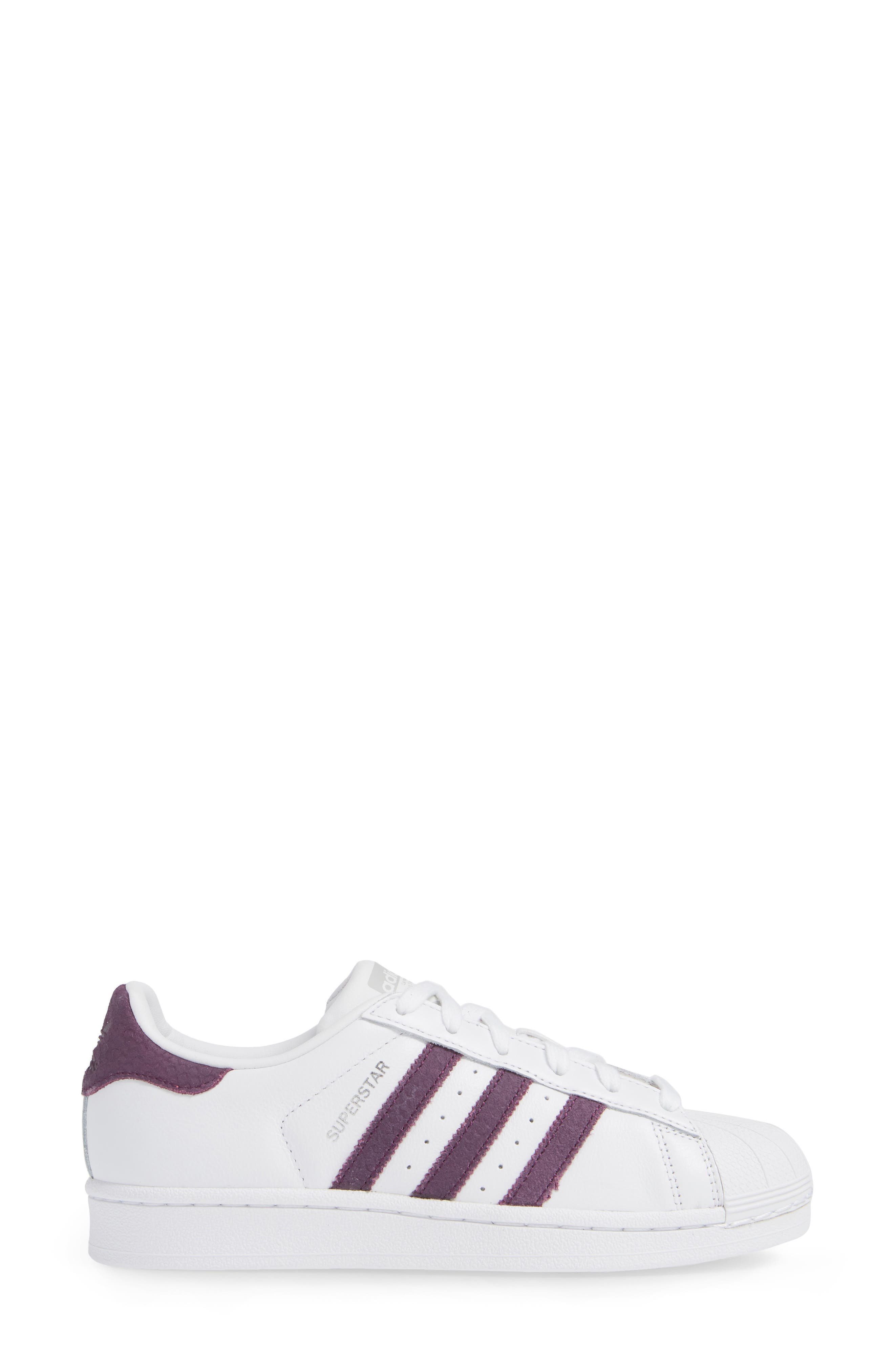 Superstar Sneaker,                             Alternate thumbnail 3, color,                             WHITE/ RED NIGHT/ SILVER