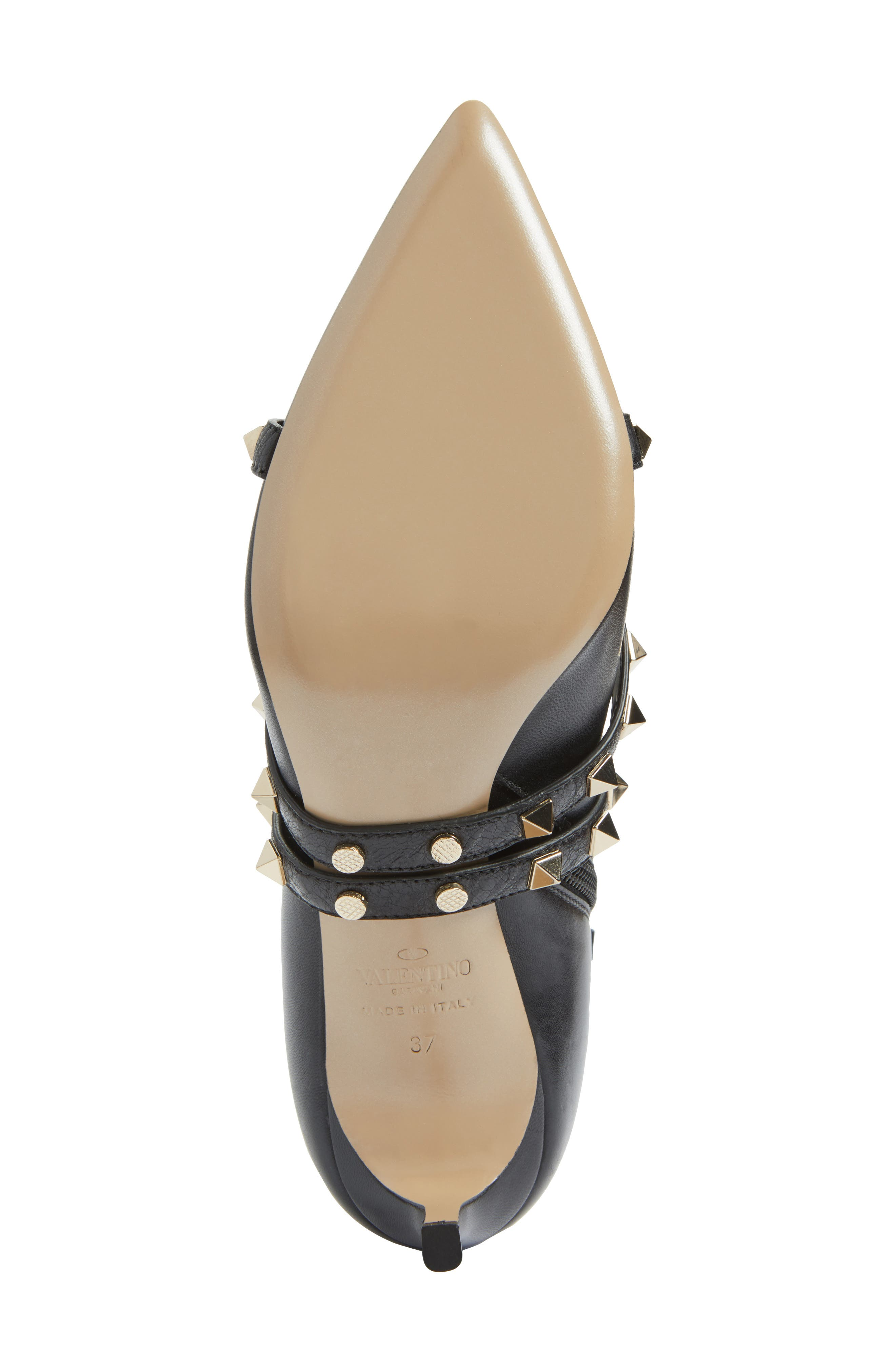 Rockstud Wrapped Bootie,                             Alternate thumbnail 6, color,                             001