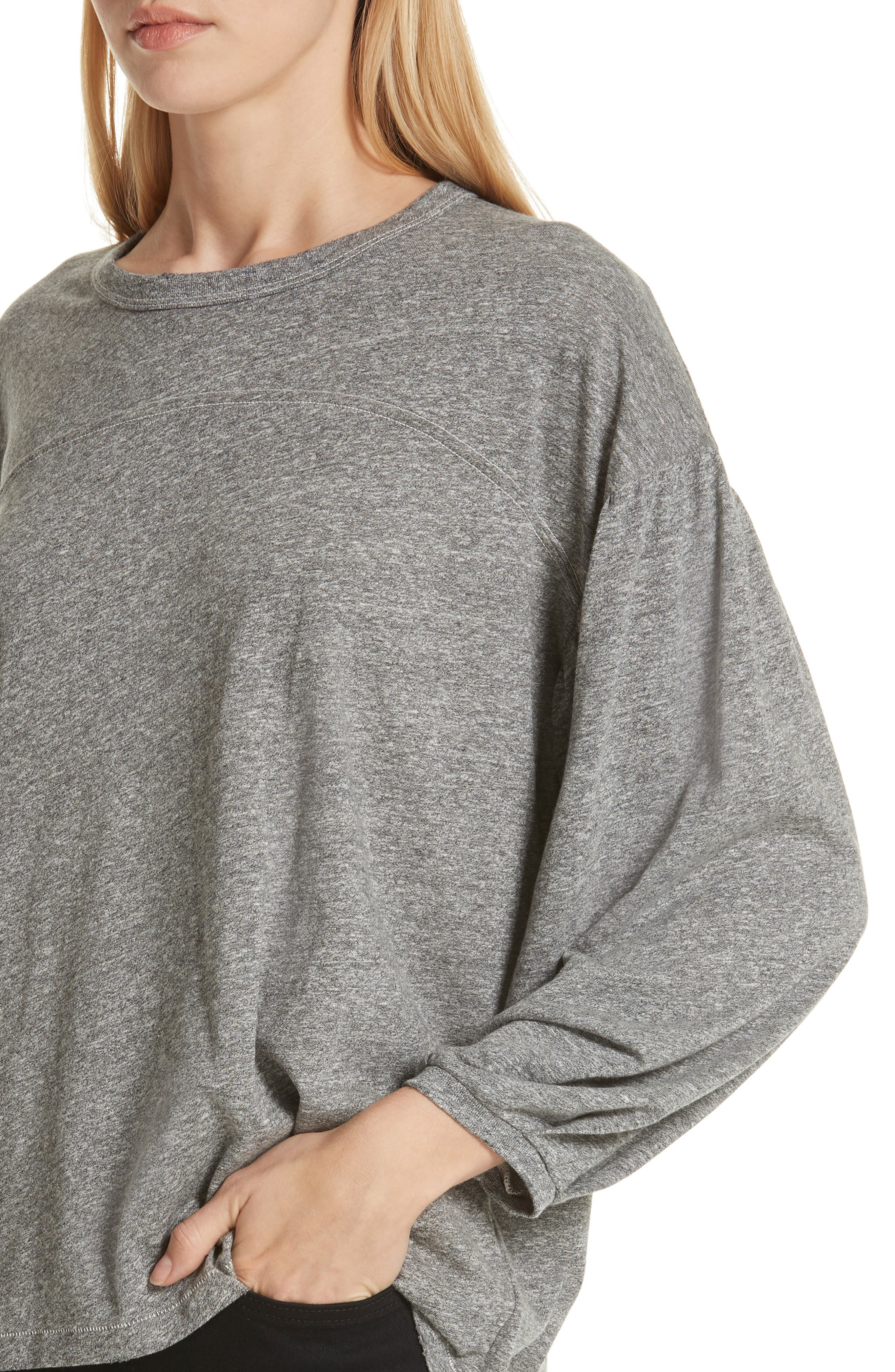 The Curve Tee,                             Alternate thumbnail 4, color,                             HEATHER GREY
