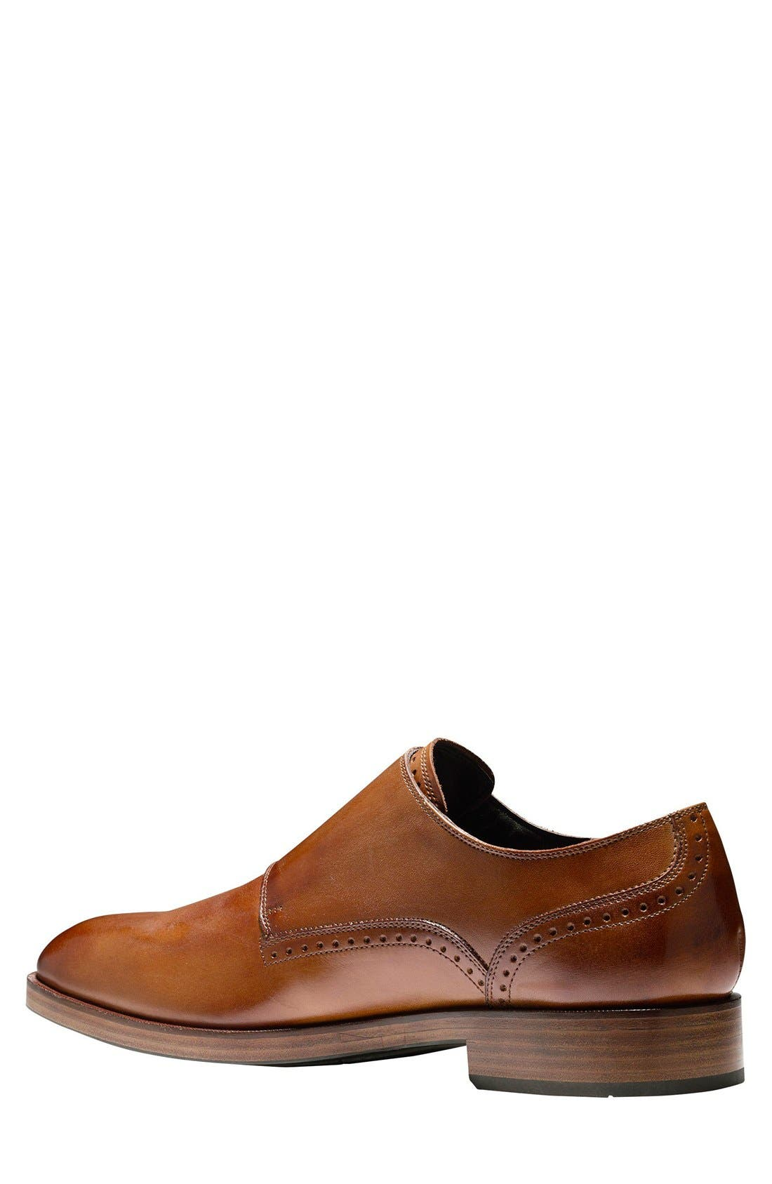 'Harrison' Double Monk Strap Shoe,                             Alternate thumbnail 8, color,                             BRITISH TAN LEATHER
