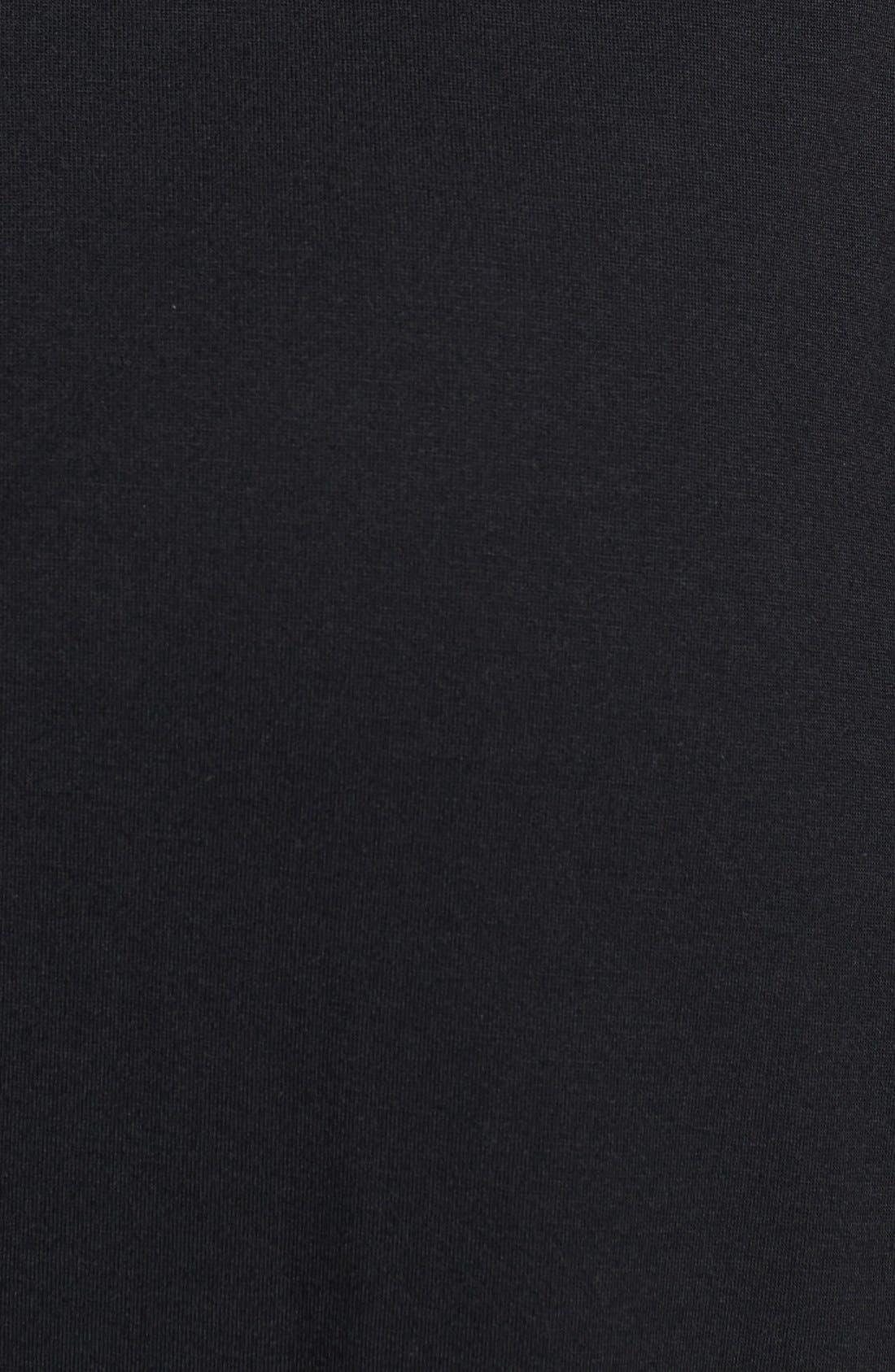'Shangri La' Nightgown,                             Alternate thumbnail 2, color,                             BLACK